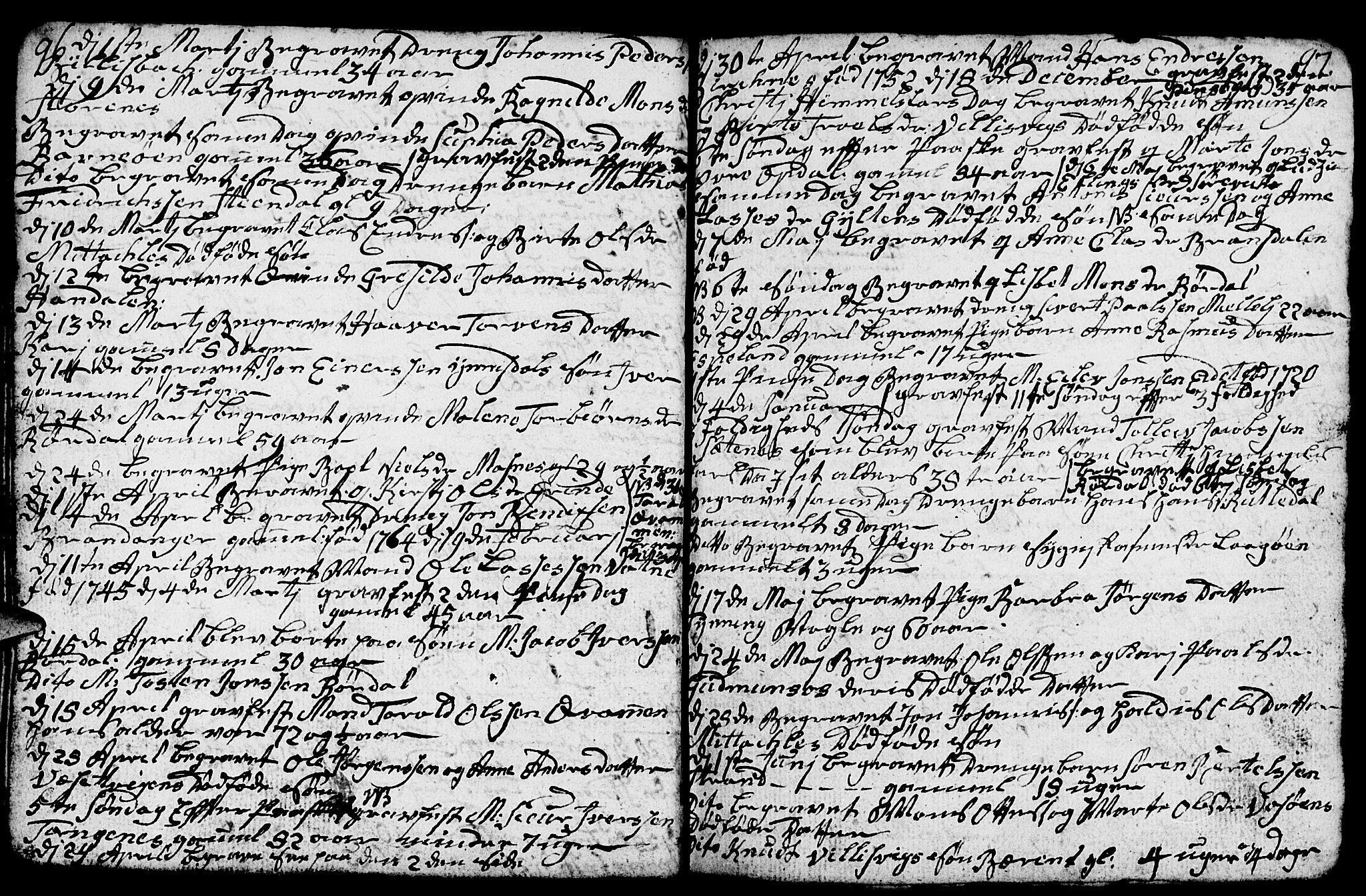 SAB, Gulen Sokneprestembete, Klokkerbok nr. A 1, 1786-1791, s. 111
