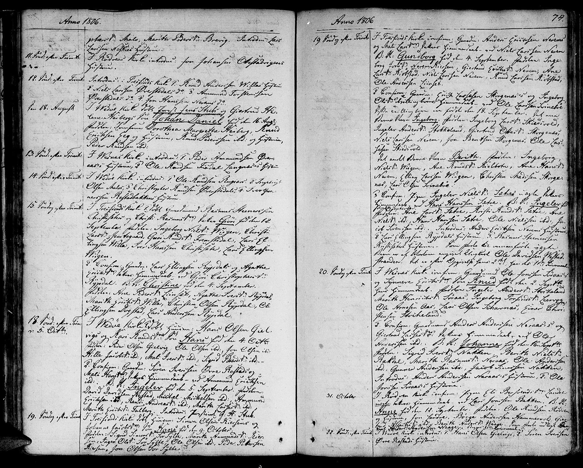 SAT, Ministerialprotokoller, klokkerbøker og fødselsregistre - Møre og Romsdal, 547/L0601: Ministerialbok nr. 547A03, 1799-1818, s. 74