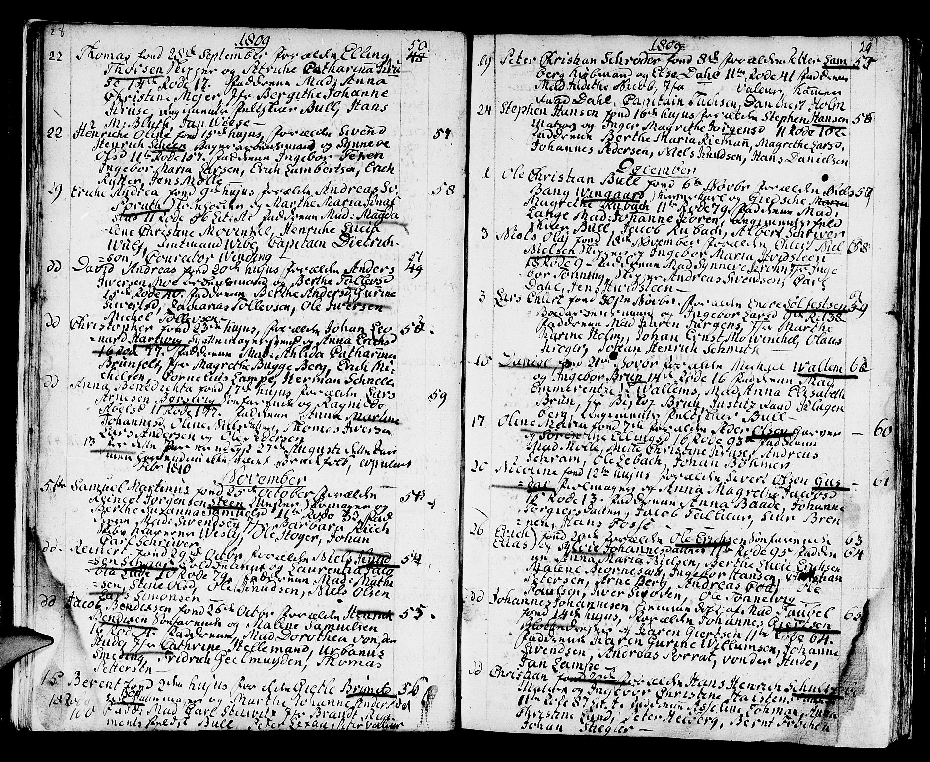 SAB, Domkirken Sokneprestembete, H/Haa/L0005: Ministerialbok nr. A 5, 1808-1820, s. 28-29