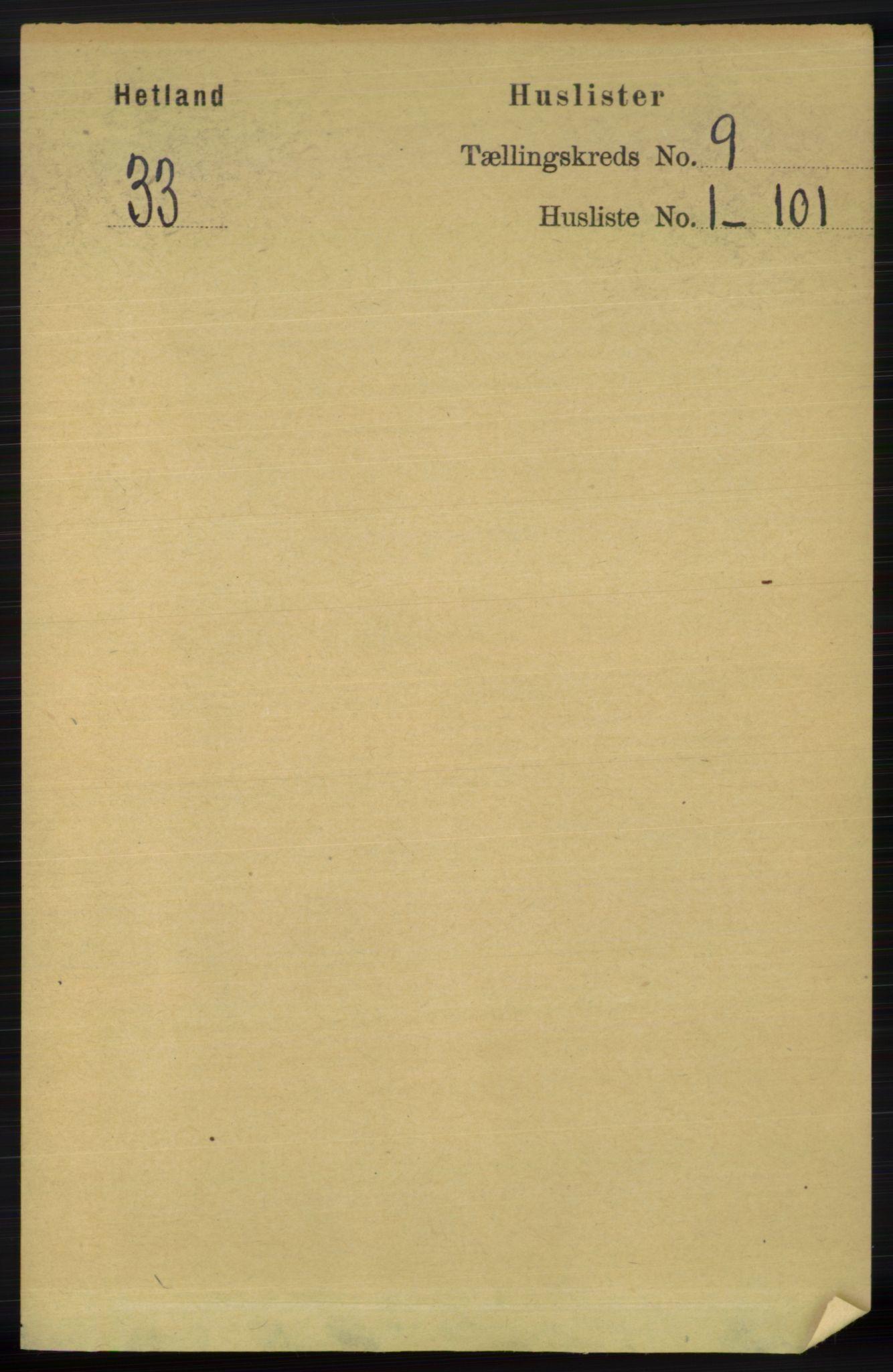 RA, Folketelling 1891 for 1126 Hetland herred, 1891, s. 5005