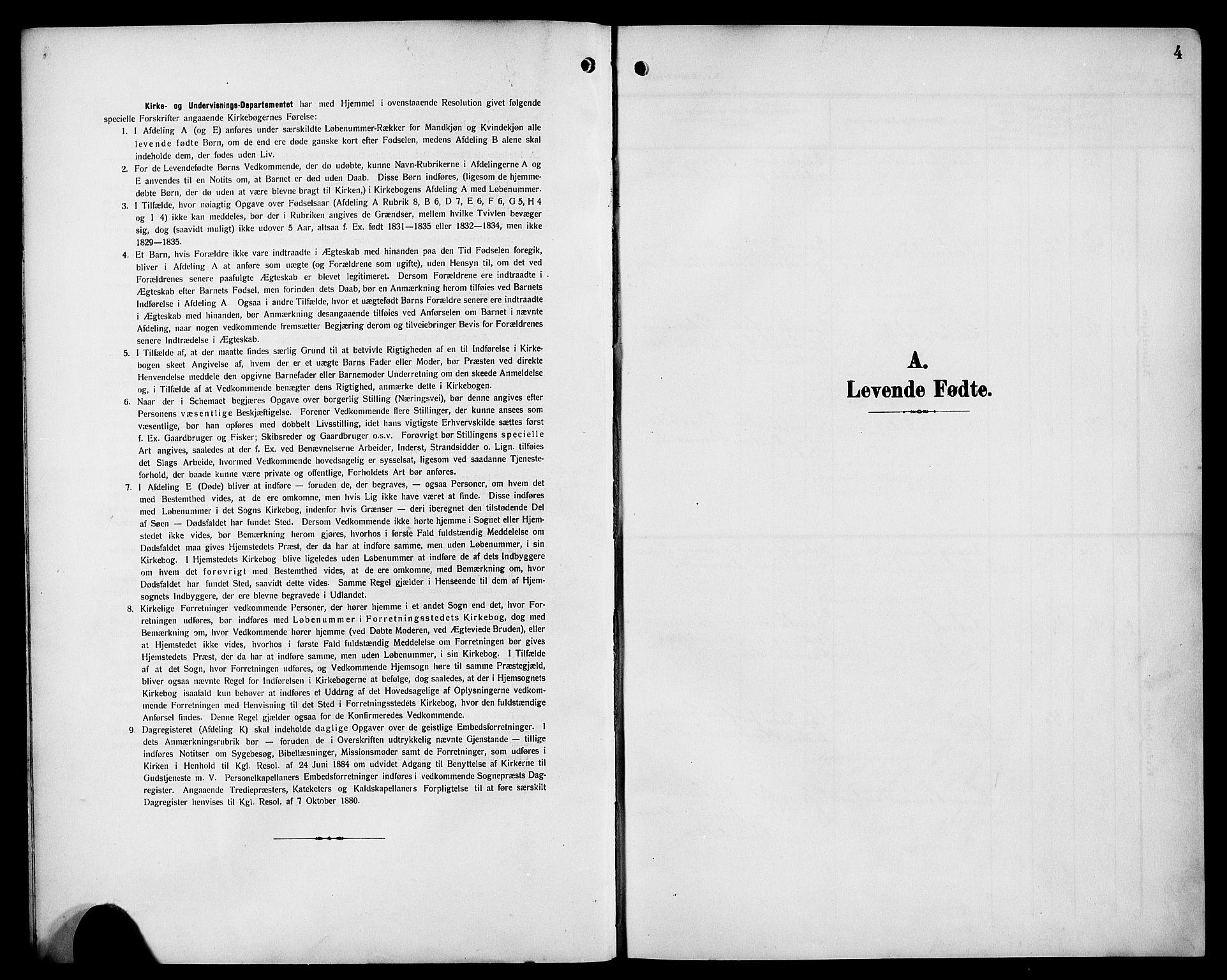 SAB, Bremanger Sokneprestembete, H/Hab: Klokkerbok nr. C 1, 1908-1919, s. 4
