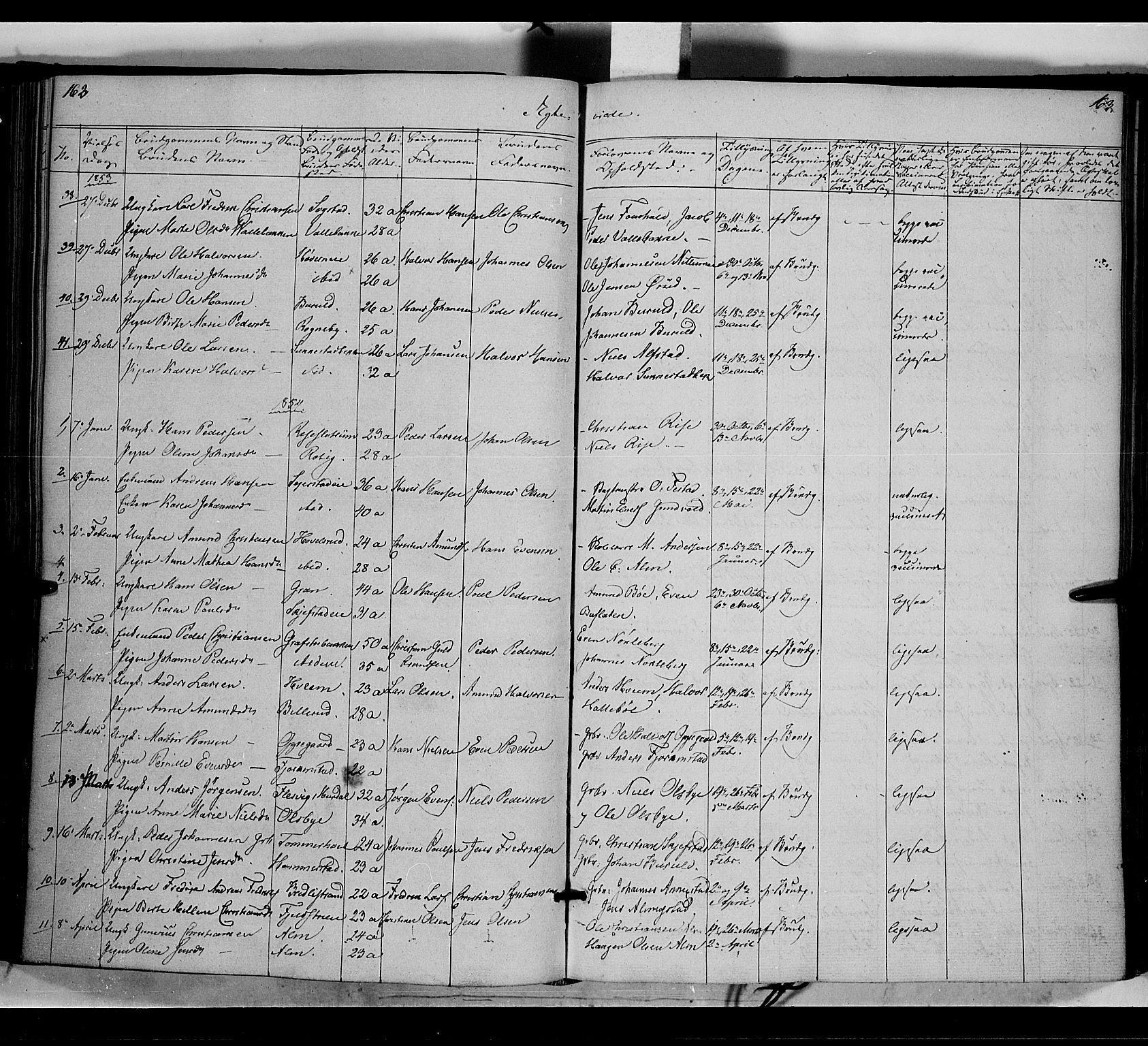SAH, Østre Toten prestekontor, Ministerialbok nr. 3, 1848-1856, s. 163