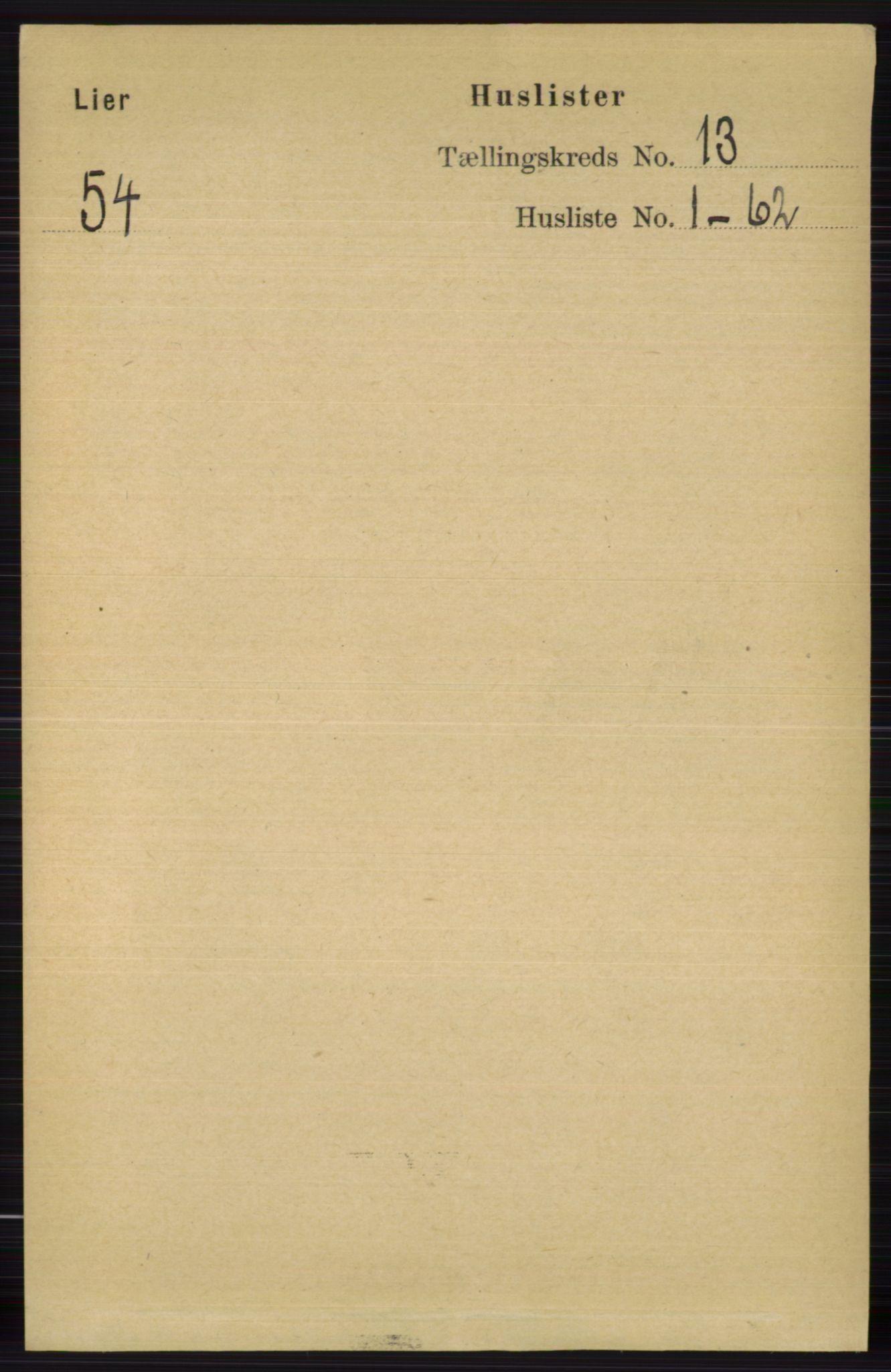 RA, Folketelling 1891 for 0626 Lier herred, 1891, s. 7830
