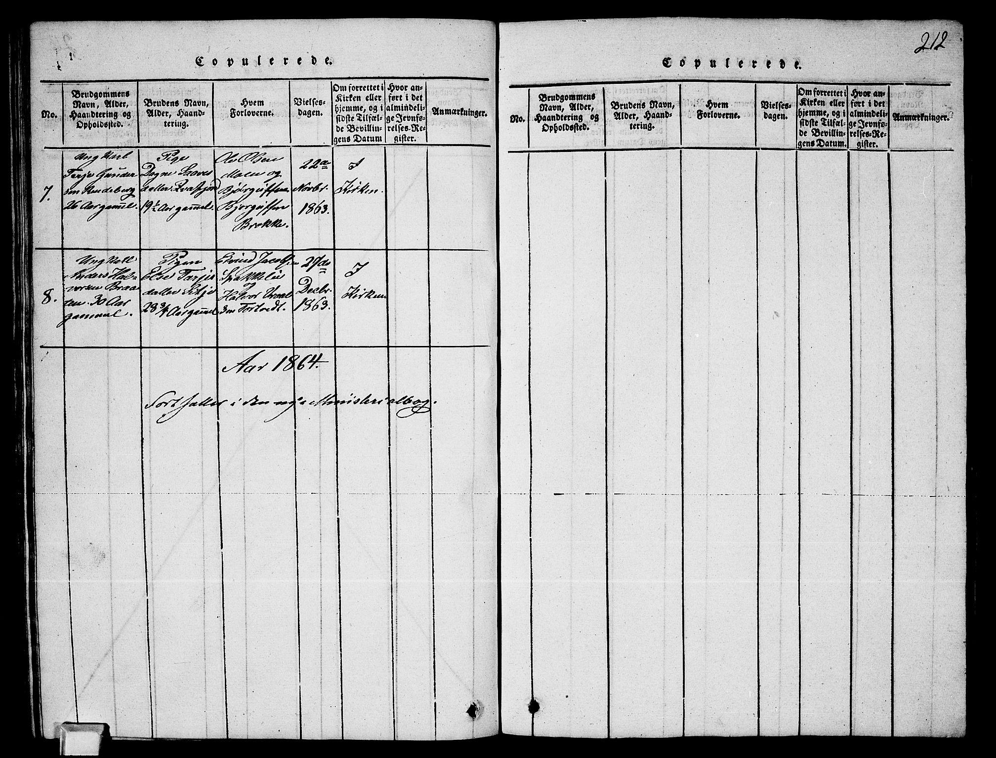 SAKO, Fyresdal kirkebøker, G/Ga/L0003: Klokkerbok nr. I 3, 1815-1863, s. 211
