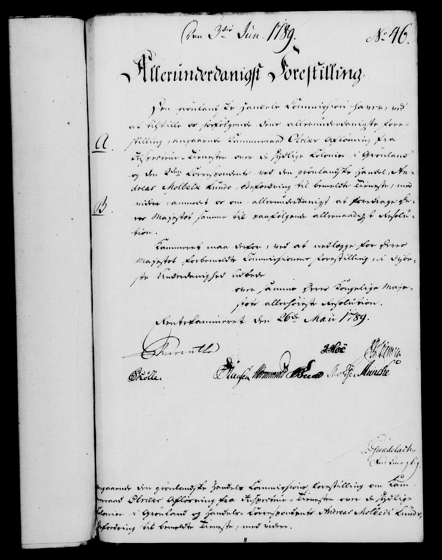 RA, Rentekammeret, Kammerkanselliet, G/Gf/Gfa/L0071: Norsk relasjons- og resolusjonsprotokoll (merket RK 52.71), 1789, s. 303