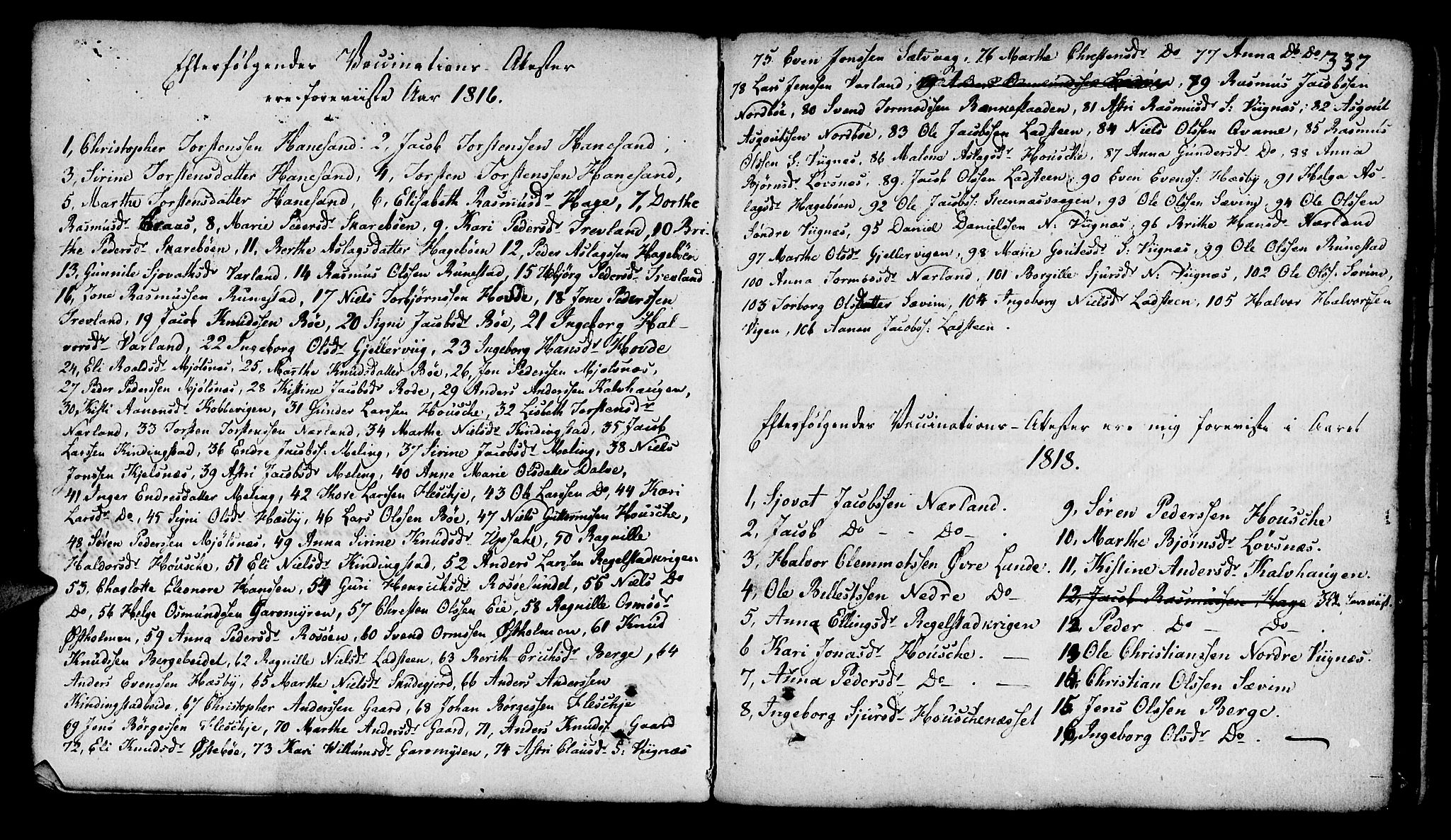 SAST, Finnøy sokneprestkontor, H/Ha/Haa/L0005: Ministerialbok nr. A 5, 1773-1816, s. 337