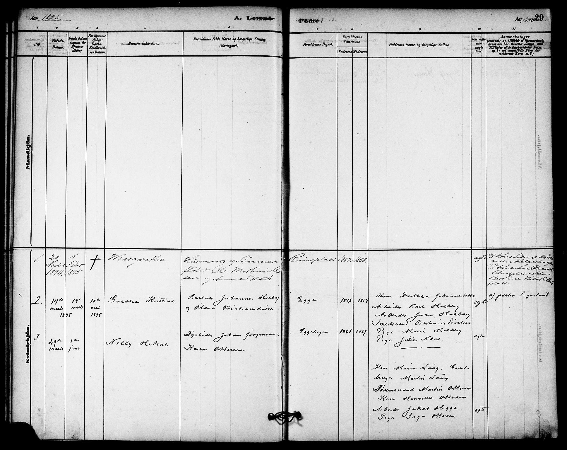 SAT, Ministerialprotokoller, klokkerbøker og fødselsregistre - Nord-Trøndelag, 740/L0378: Ministerialbok nr. 740A01, 1881-1895, s. 29