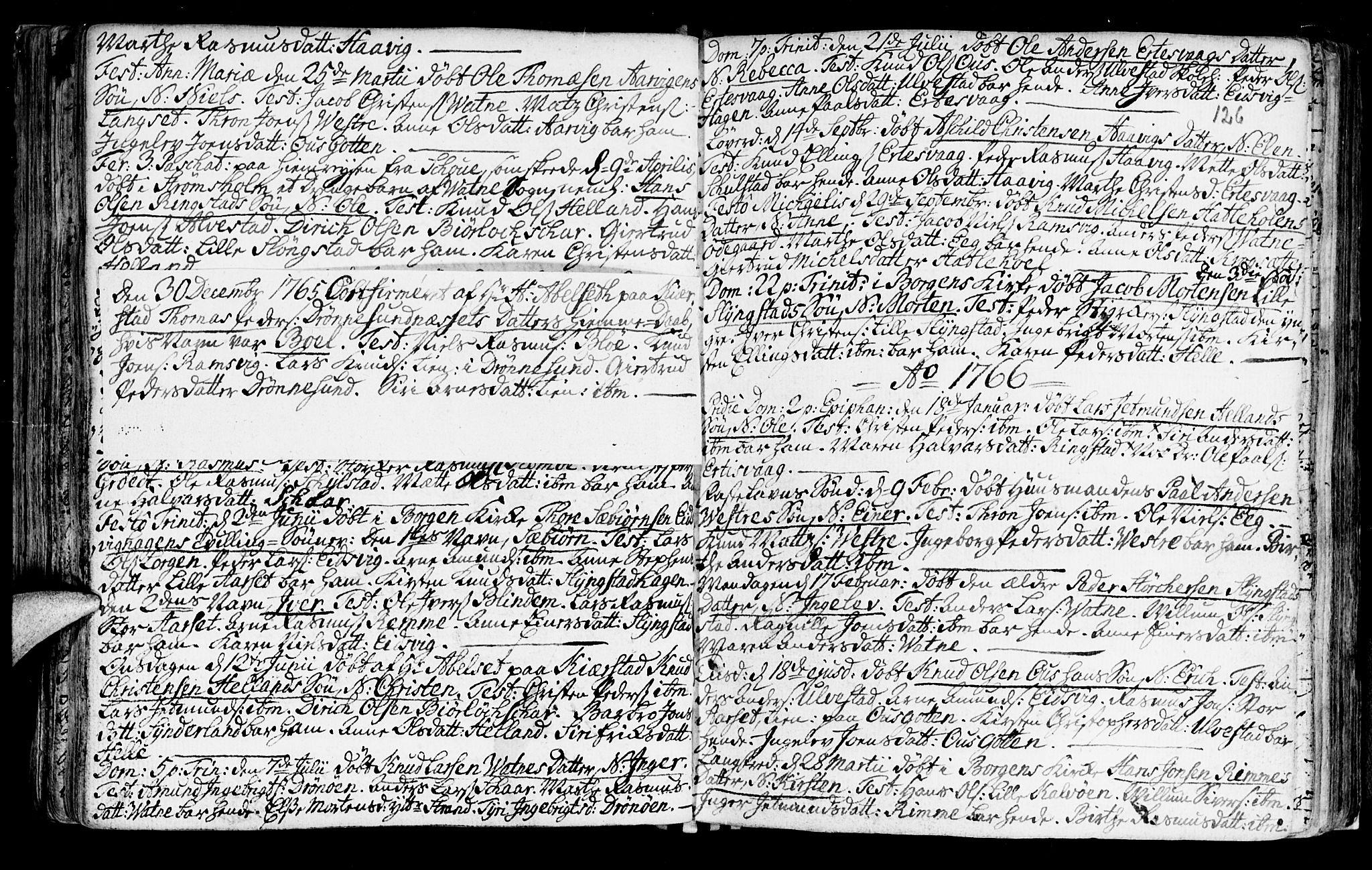 SAT, Ministerialprotokoller, klokkerbøker og fødselsregistre - Møre og Romsdal, 525/L0371: Ministerialbok nr. 525A01, 1699-1777, s. 126