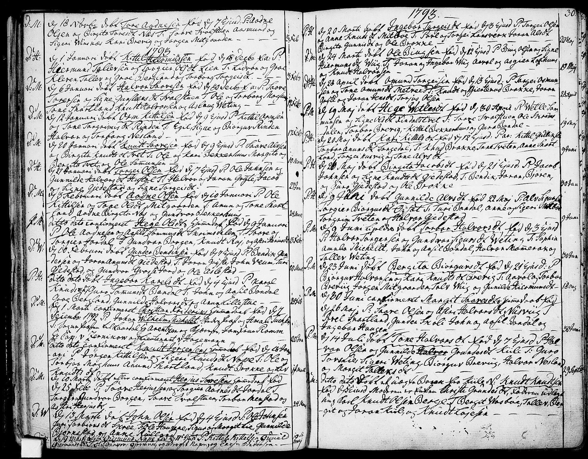 SAKO, Fyresdal kirkebøker, F/Fa/L0002: Ministerialbok nr. I 2, 1769-1814, s. 30