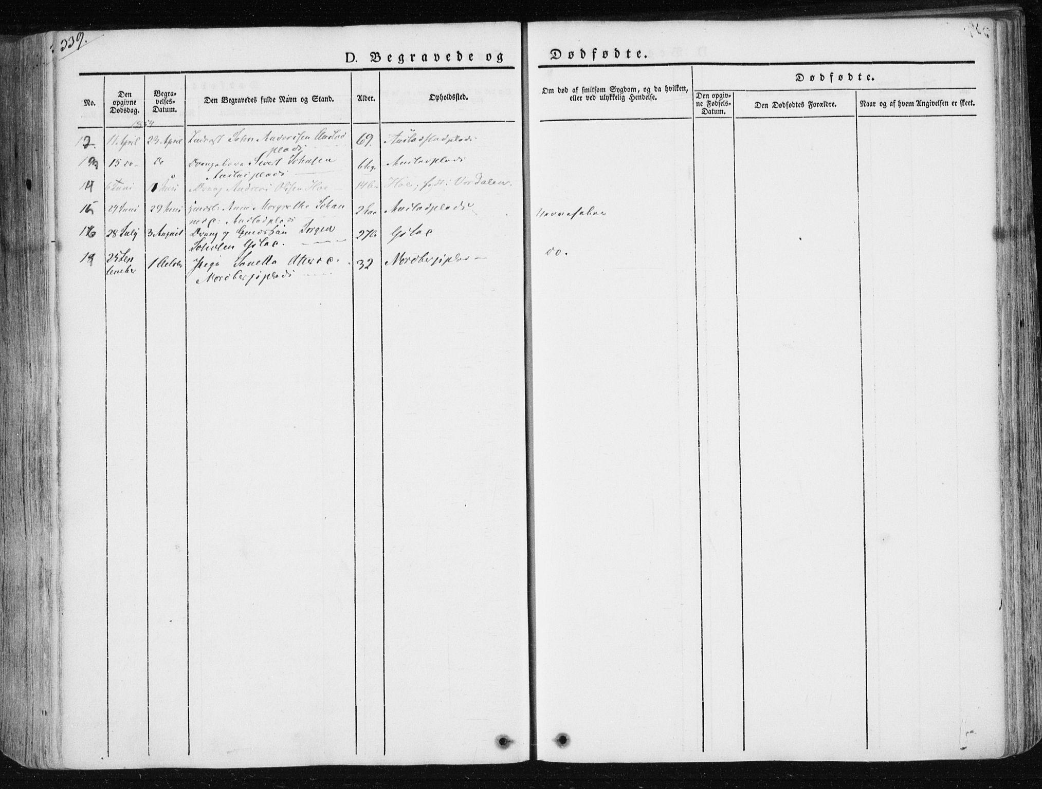 SAT, Ministerialprotokoller, klokkerbøker og fødselsregistre - Nord-Trøndelag, 730/L0280: Ministerialbok nr. 730A07 /2, 1840-1854, s. 329