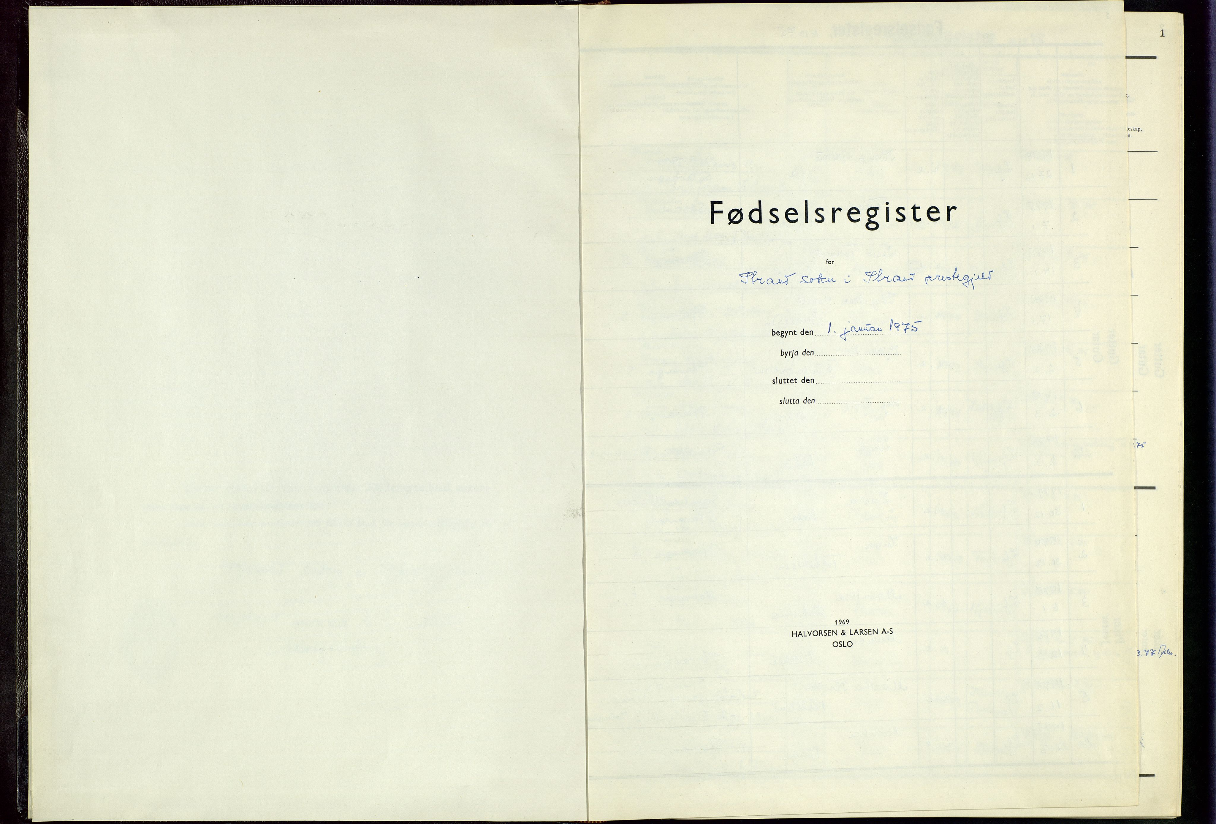 SAST, Strand sokneprestkontor, I/Id/L0004: Fødselsregister nr. 4, 1975-1982