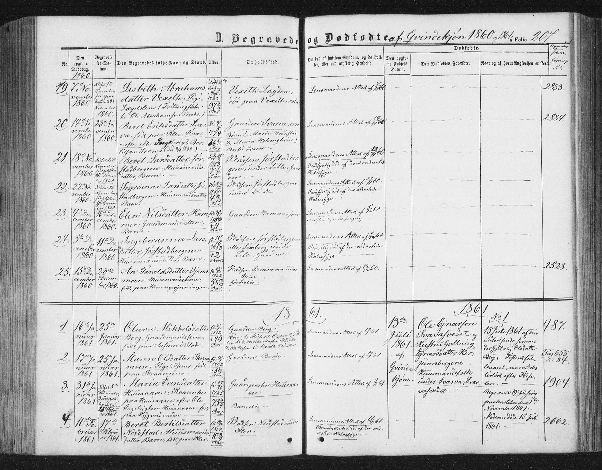 SAT, Ministerialprotokoller, klokkerbøker og fødselsregistre - Nord-Trøndelag, 749/L0472: Ministerialbok nr. 749A06, 1857-1873, s. 207