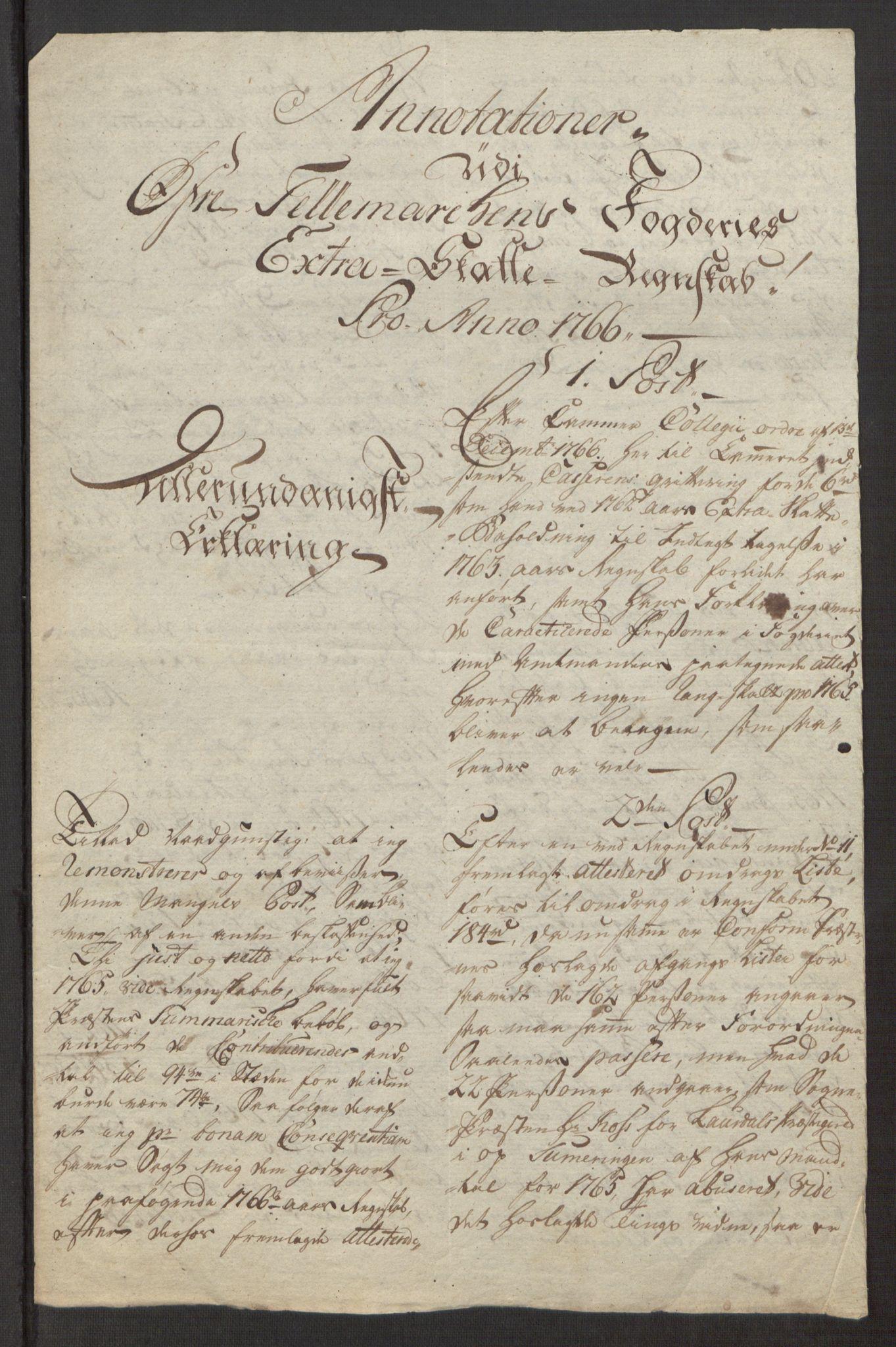 RA, Rentekammeret inntil 1814, Reviderte regnskaper, Fogderegnskap, R38/L2293: Ekstraskatten Øvre Telemark, 1762-1770, s. 81