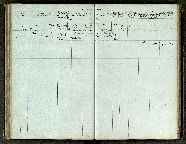 SAKO, Lårdal kirkebøker, G/Ga/L0002: Klokkerbok nr. I 2, 1861-1890, s. 79