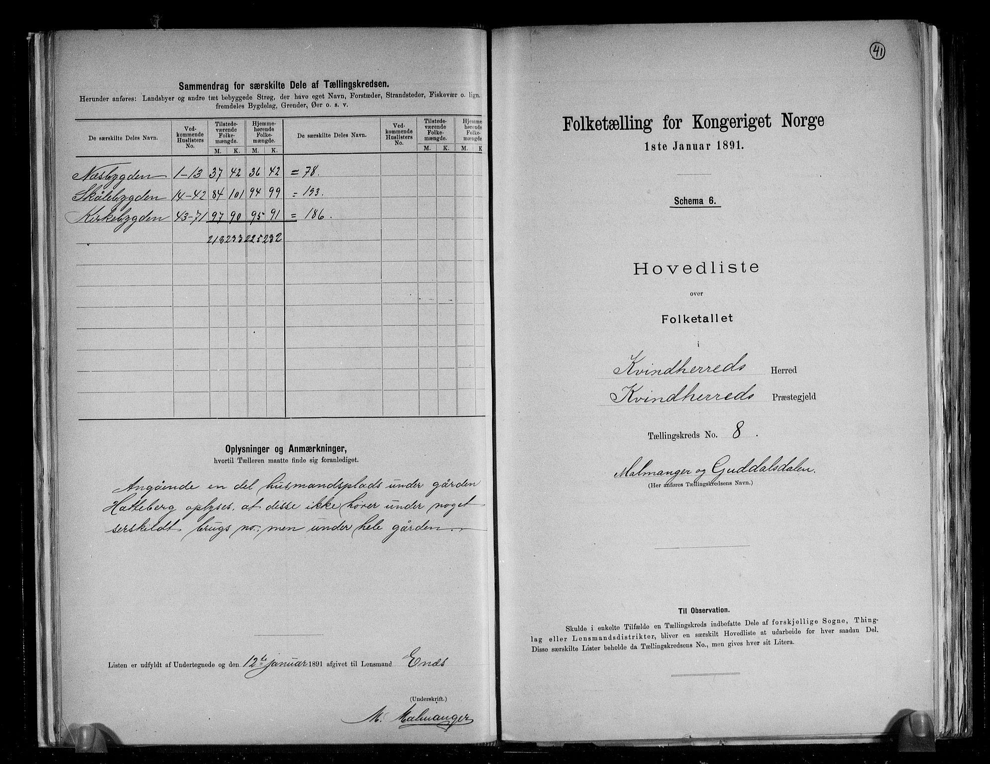 RA, Folketelling 1891 for 1224 Kvinnherad herred, 1891, s. 21