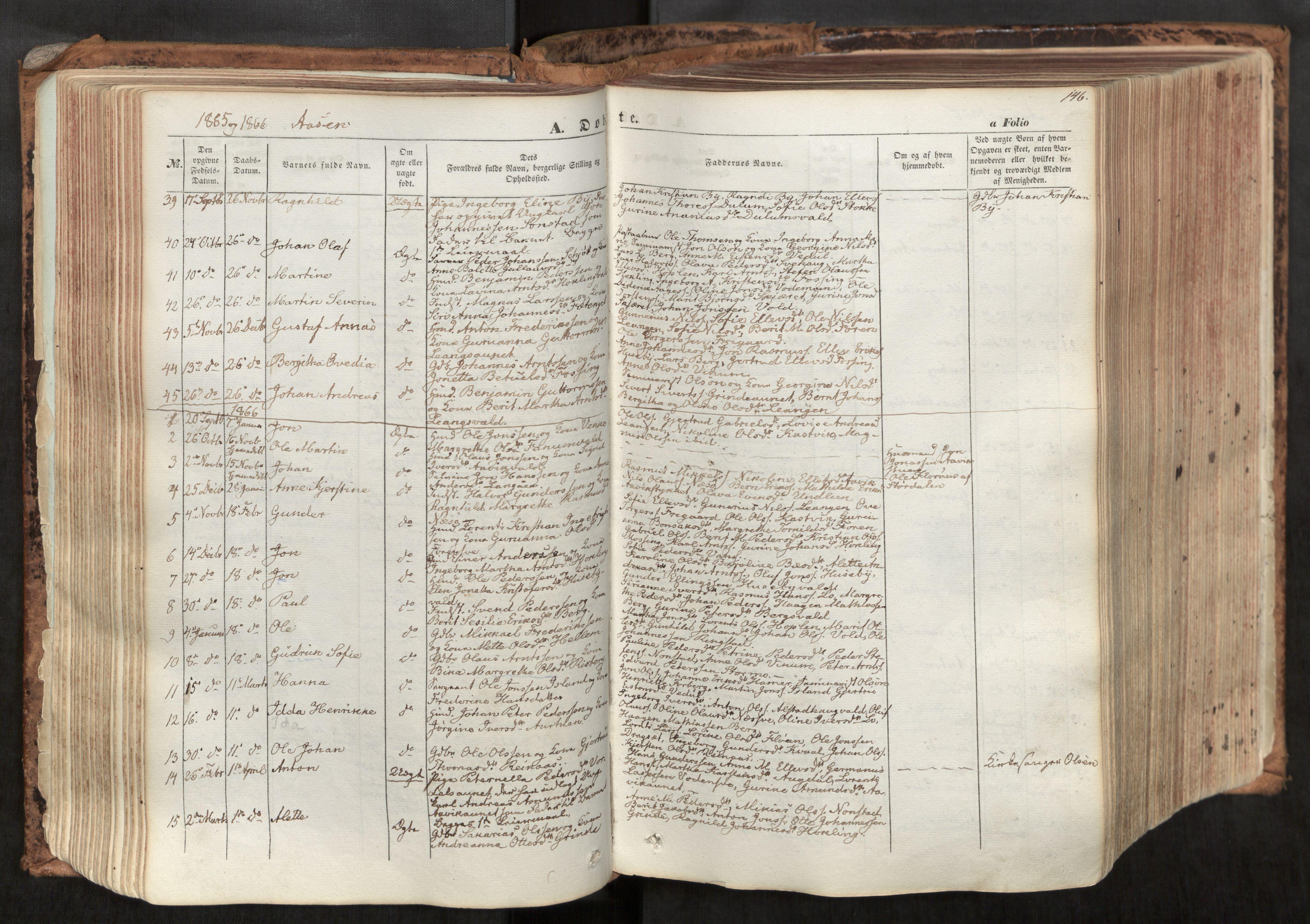 SAT, Ministerialprotokoller, klokkerbøker og fødselsregistre - Nord-Trøndelag, 713/L0116: Ministerialbok nr. 713A07, 1850-1877, s. 146