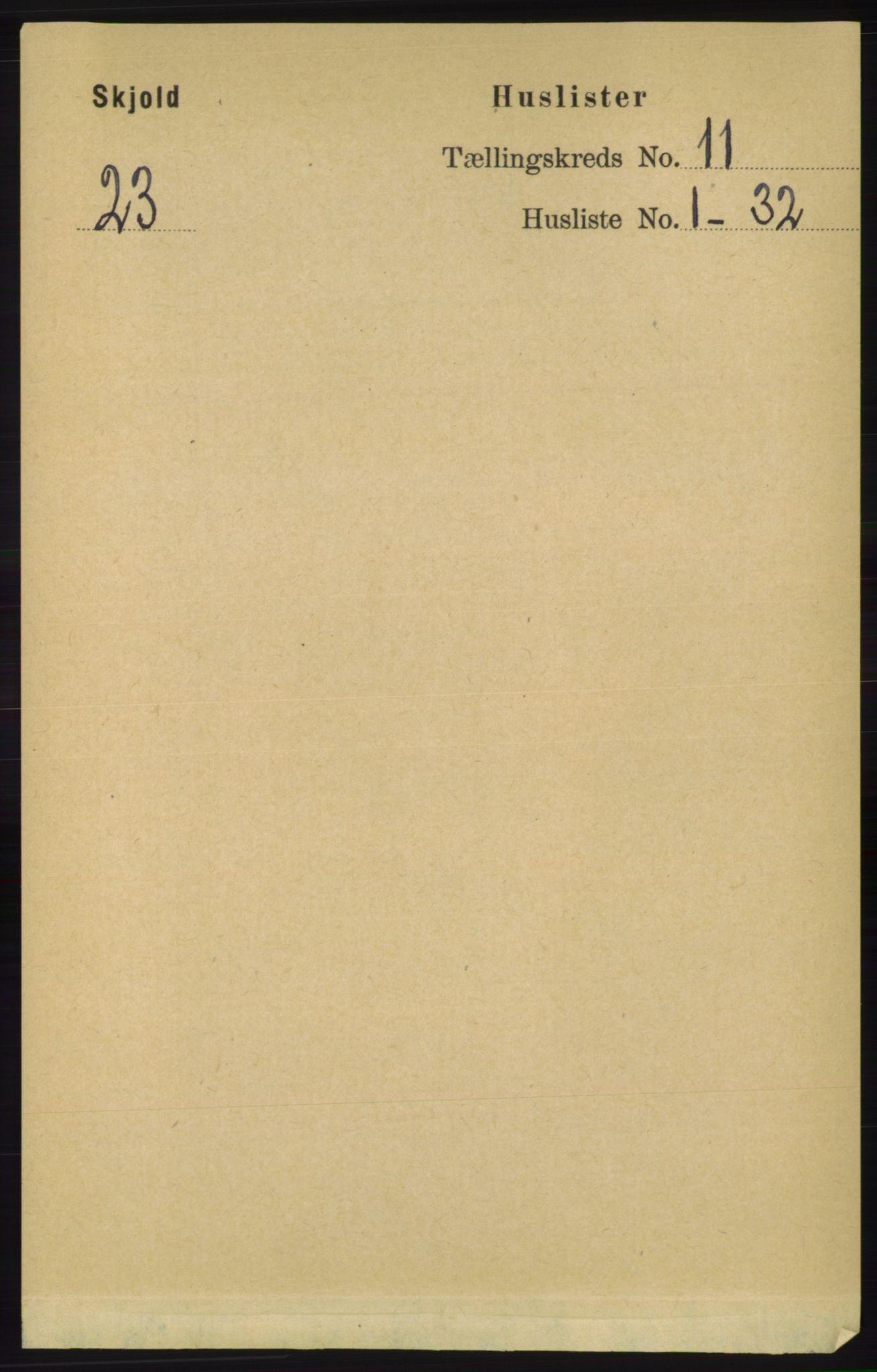 RA, Folketelling 1891 for 1154 Skjold herred, 1891, s. 2035