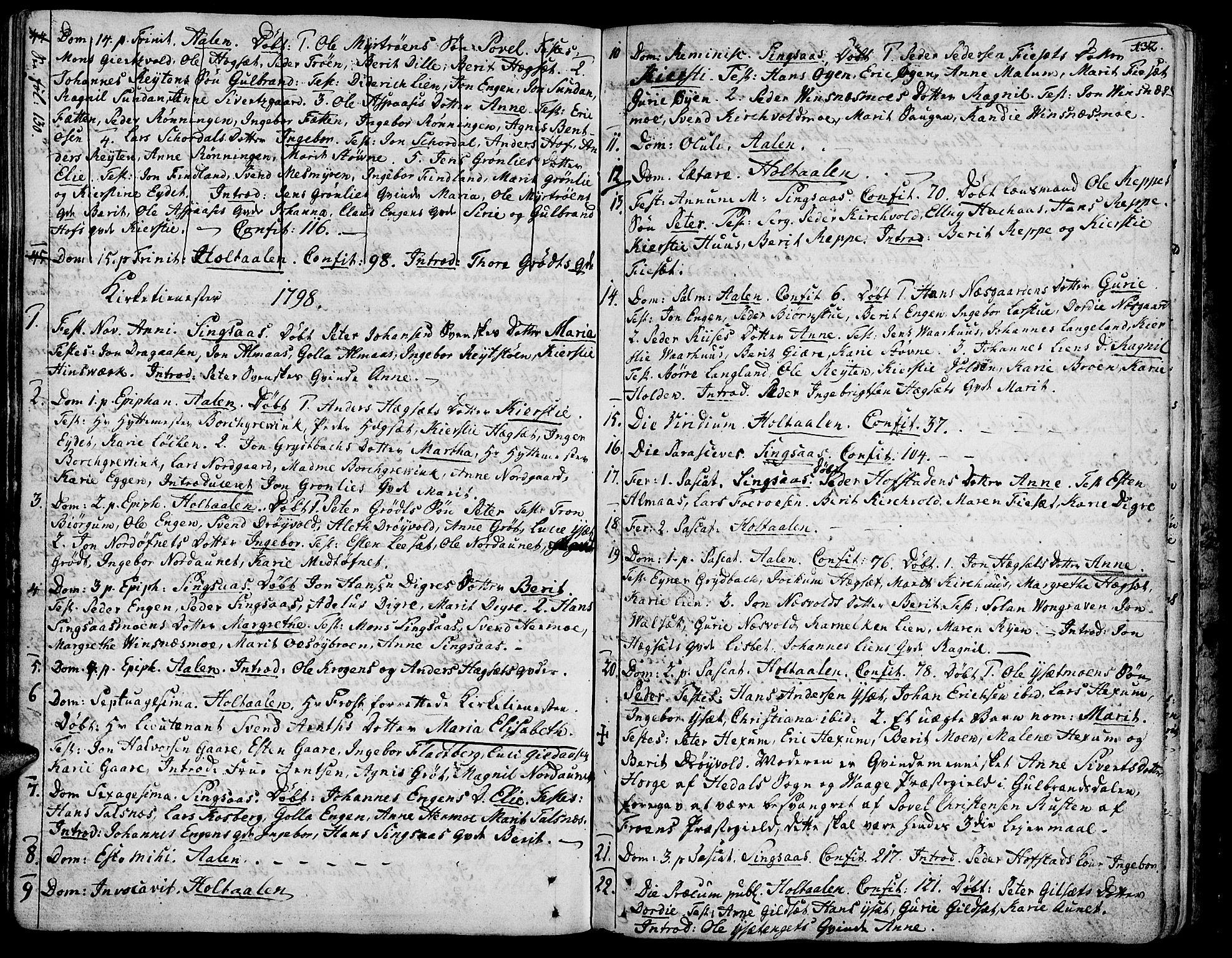 SAT, Ministerialprotokoller, klokkerbøker og fødselsregistre - Sør-Trøndelag, 685/L0952: Ministerialbok nr. 685A01, 1745-1804, s. 132