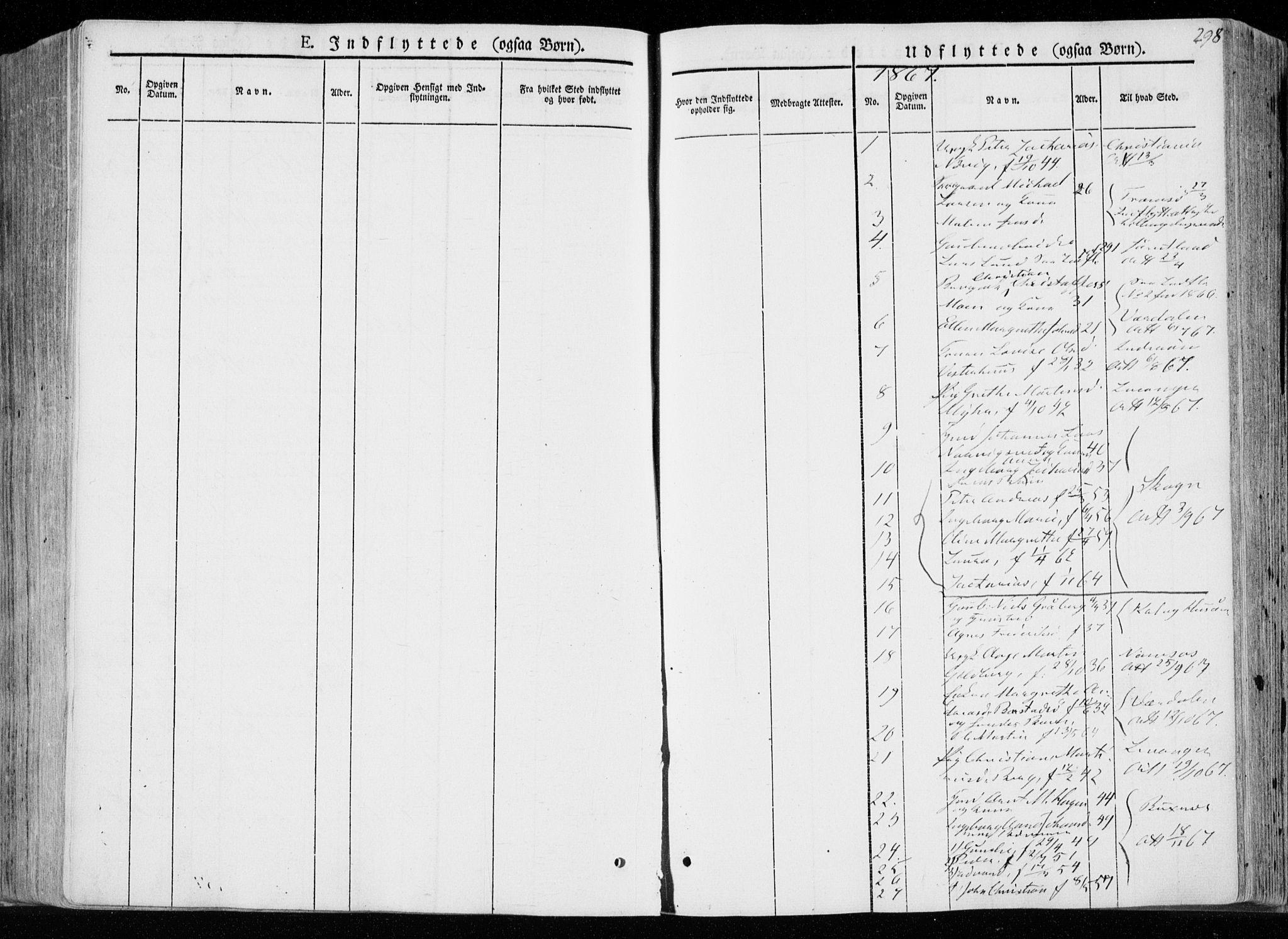 SAT, Ministerialprotokoller, klokkerbøker og fødselsregistre - Nord-Trøndelag, 722/L0218: Ministerialbok nr. 722A05, 1843-1868, s. 298