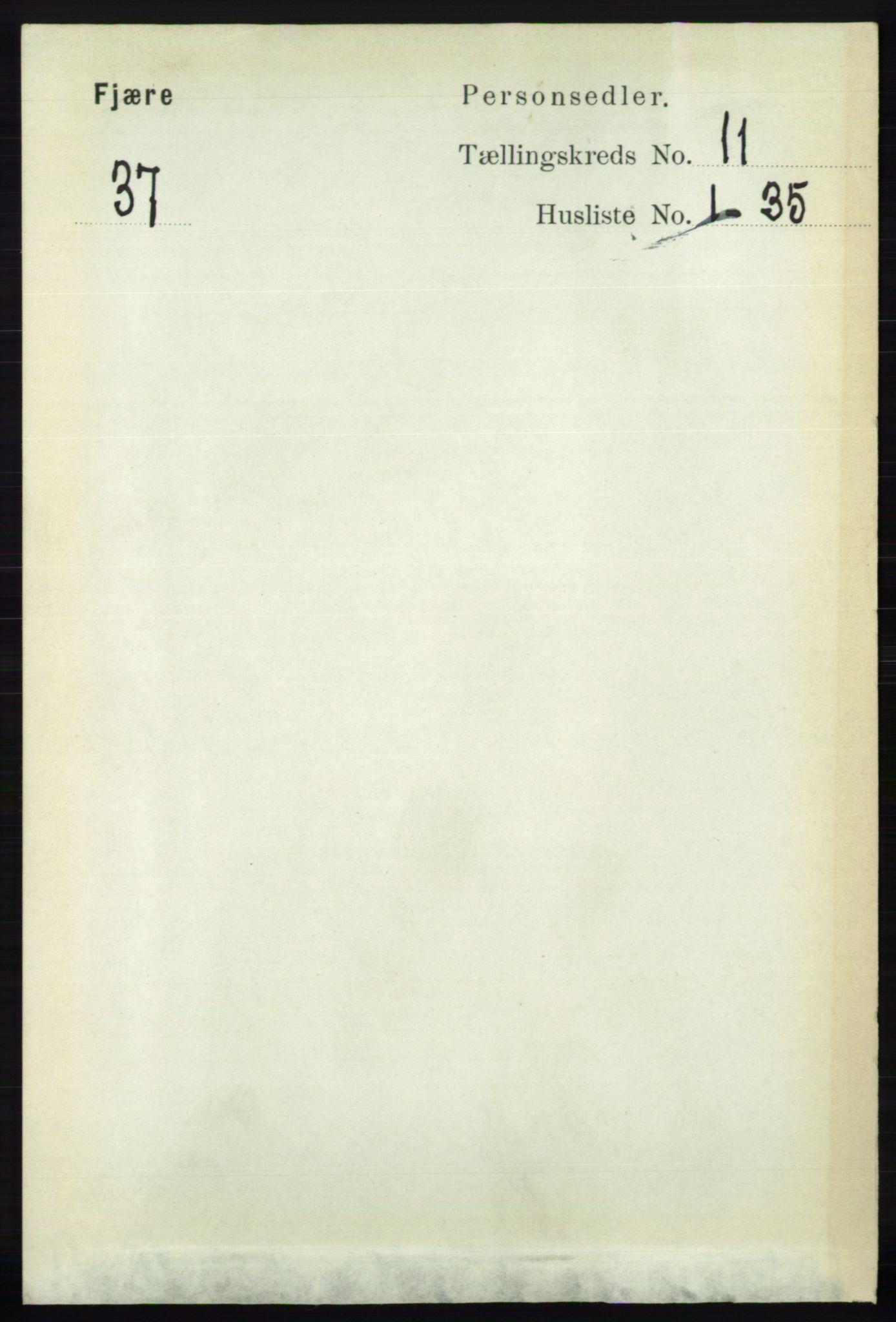 RA, Folketelling 1891 for 0923 Fjære herred, 1891, s. 5532