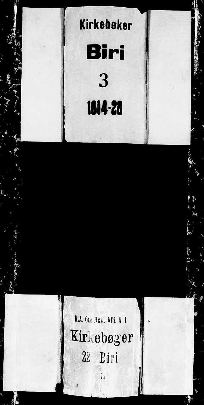 SAH, Biri prestekontor, Klokkerbok nr. 1, 1814-1828