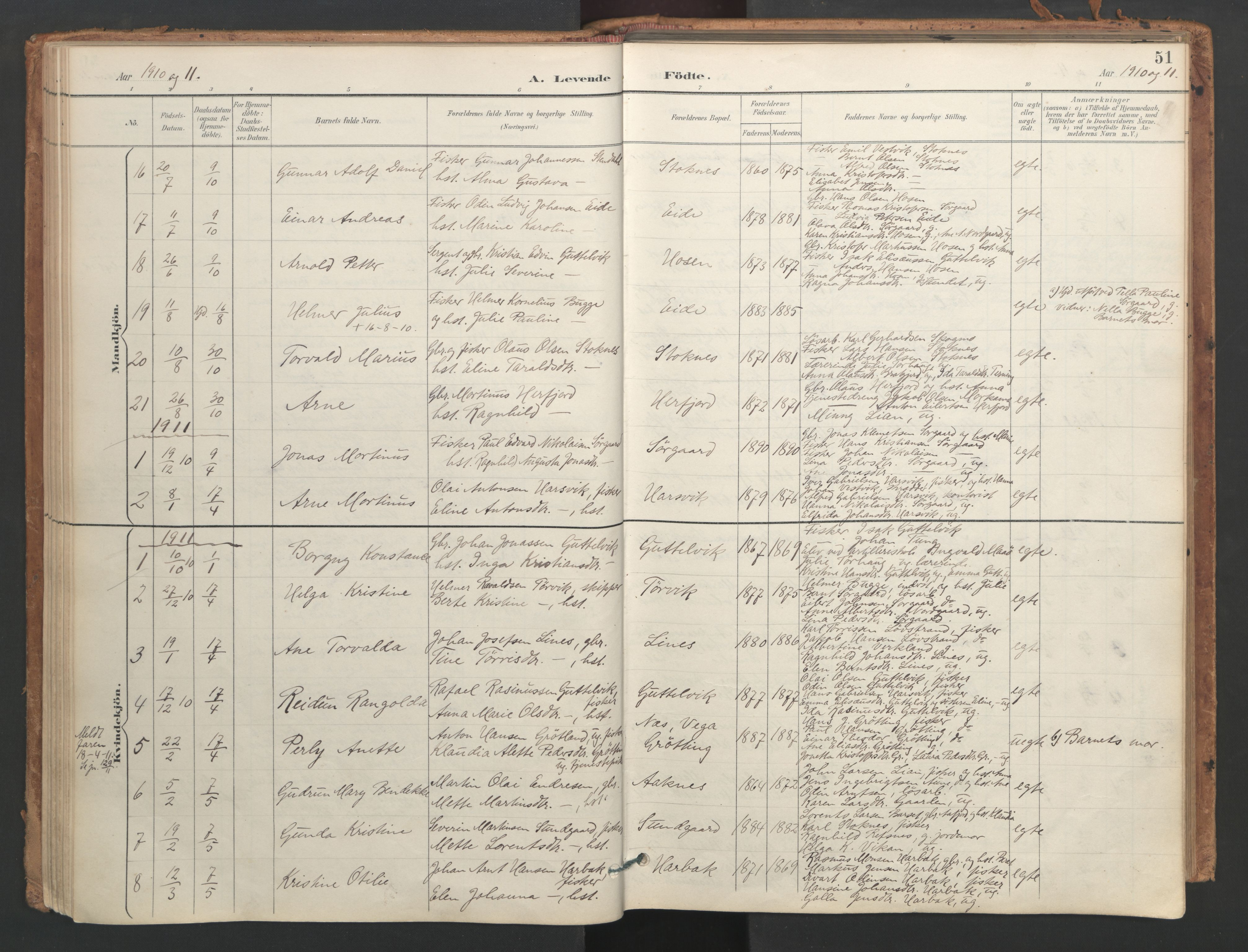 SAT, Ministerialprotokoller, klokkerbøker og fødselsregistre - Sør-Trøndelag, 656/L0693: Ministerialbok nr. 656A02, 1894-1913, s. 51