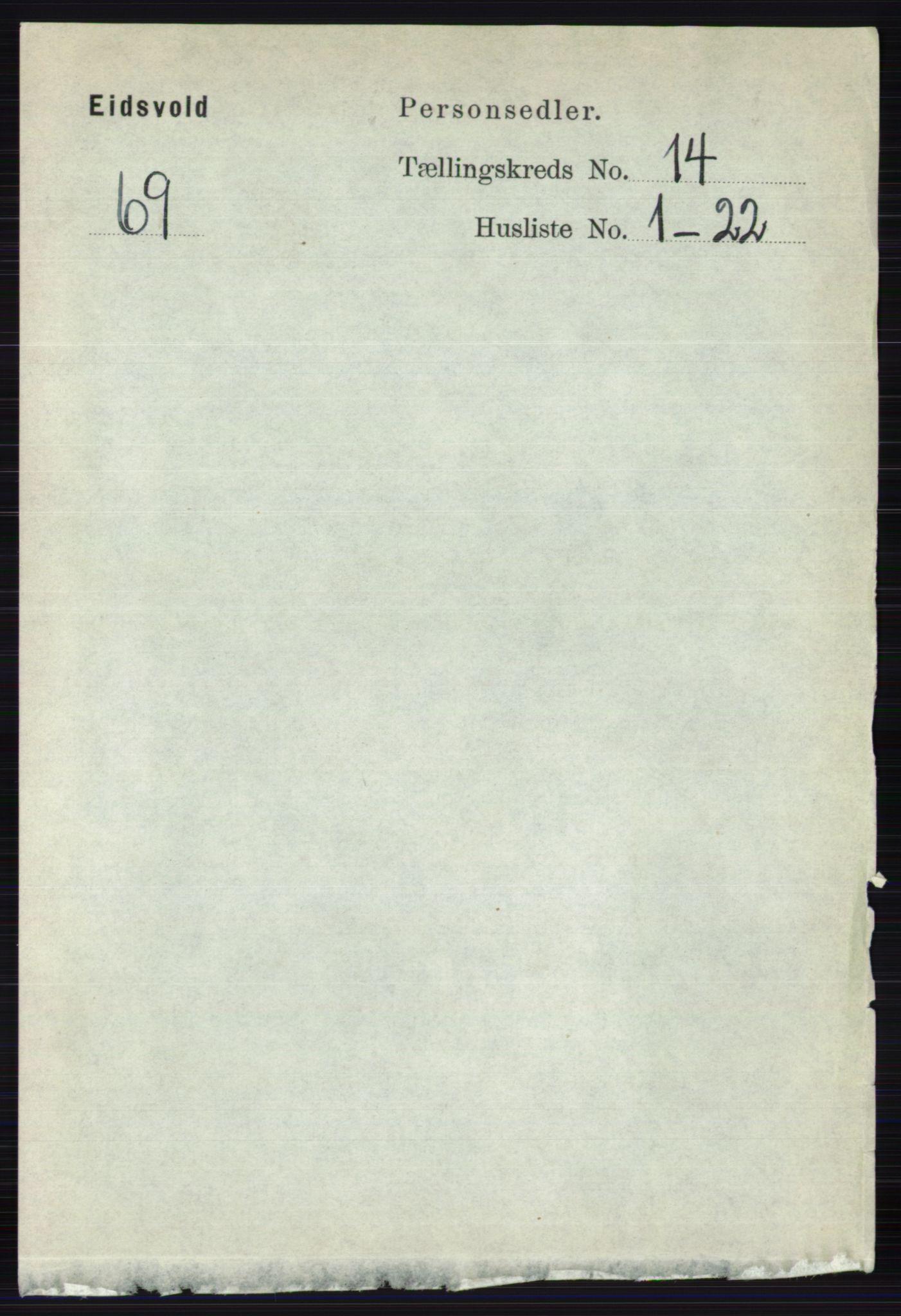 RA, Folketelling 1891 for 0237 Eidsvoll herred, 1891, s. 9429