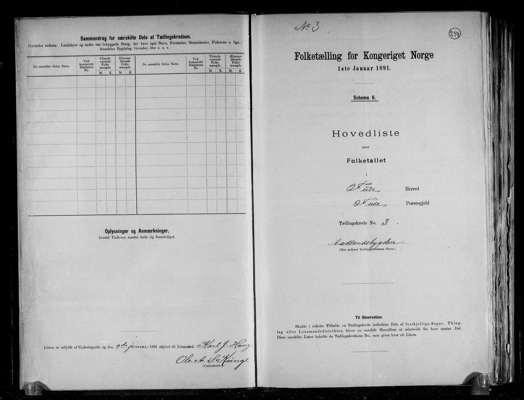 RA, Folketelling 1891 for 1241 Fusa herred, 1891, s. 8
