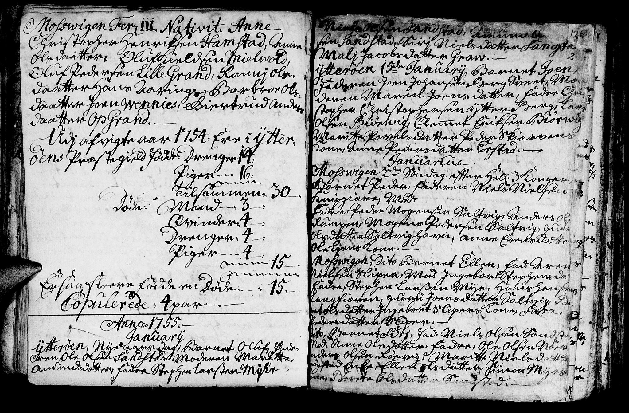 SAT, Ministerialprotokoller, klokkerbøker og fødselsregistre - Nord-Trøndelag, 722/L0215: Ministerialbok nr. 722A02, 1718-1755, s. 126