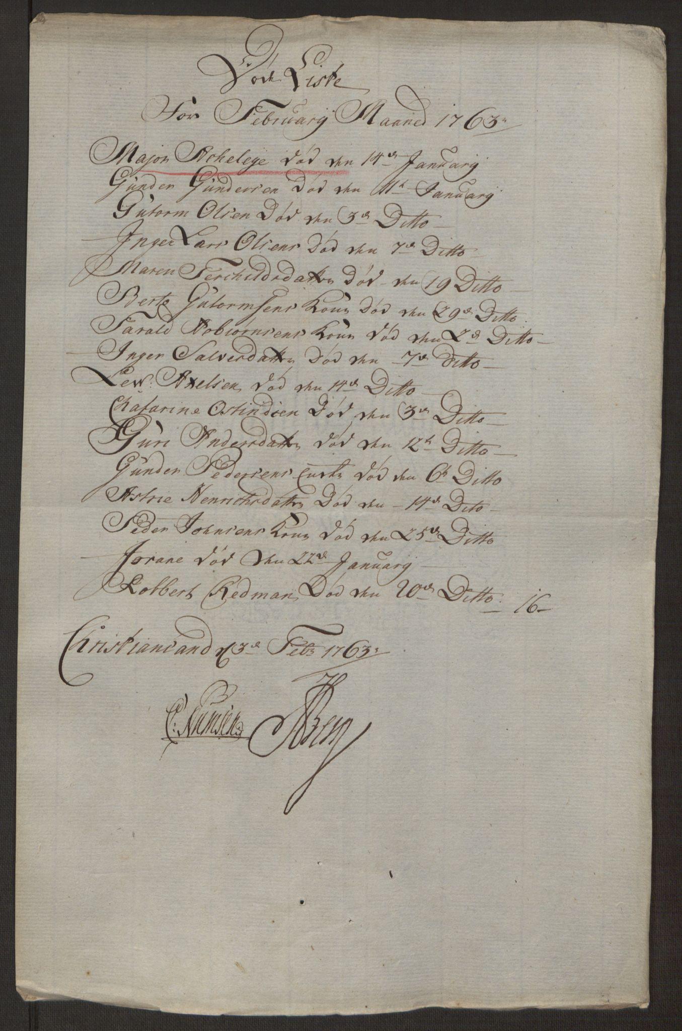 RA, Rentekammeret inntil 1814, Reviderte regnskaper, Byregnskaper, R/Rm/L0265: [M6] Kontribusjonsregnskap, 1762-1764, s. 111