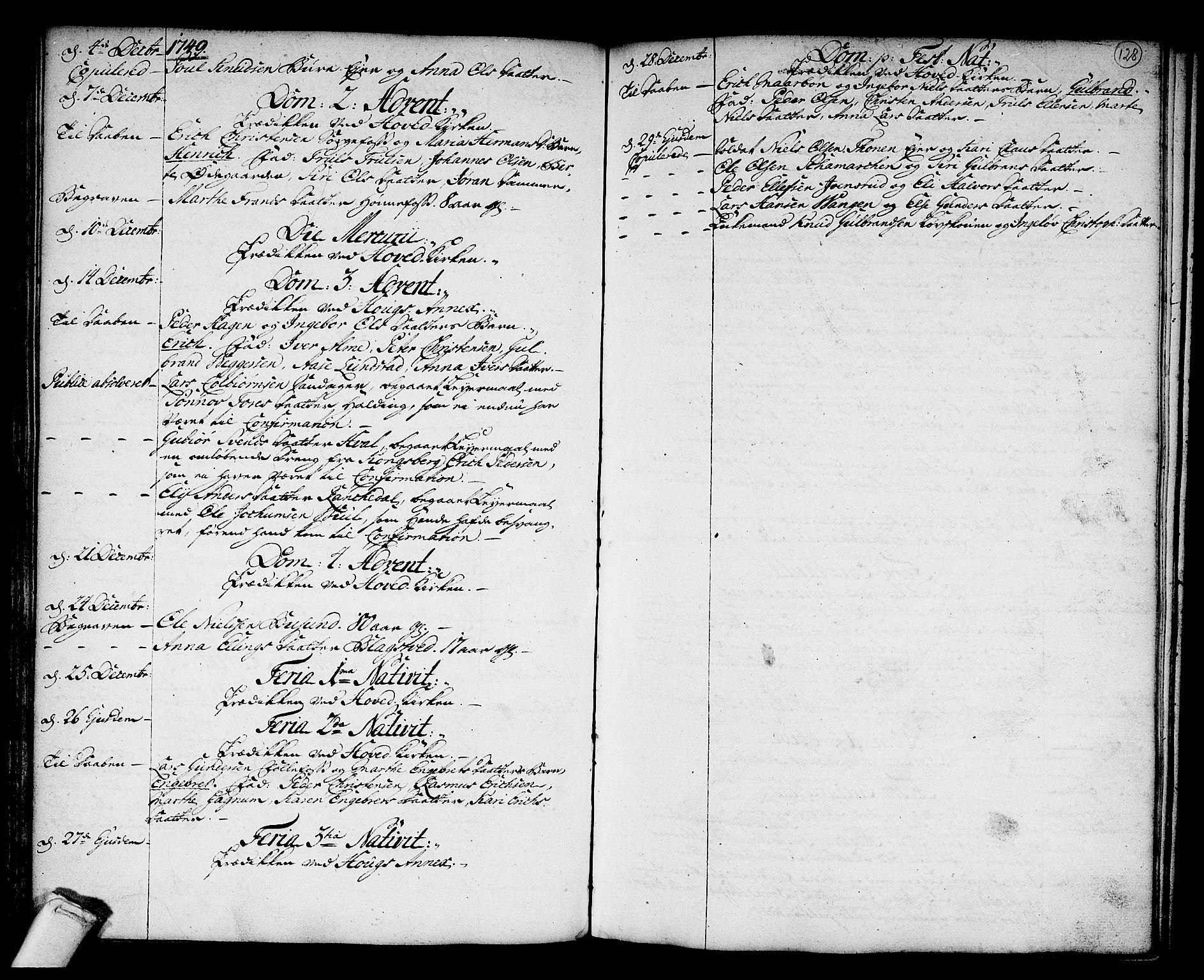 SAKO, Norderhov kirkebøker, F/Fa/L0003a: Ministerialbok nr. 3, 1740-1757, s. 128