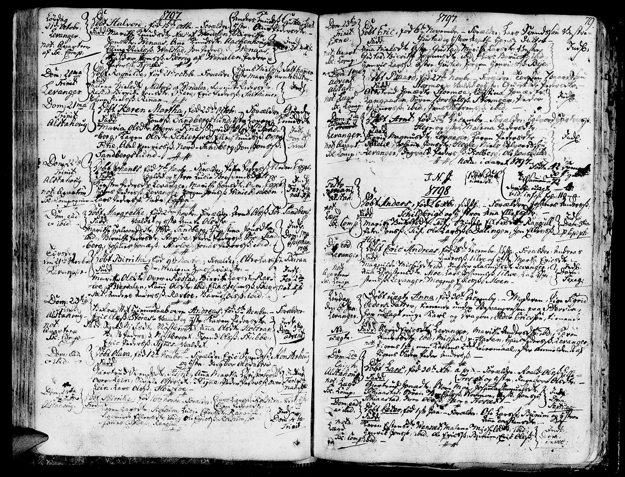 SAT, Ministerialprotokoller, klokkerbøker og fødselsregistre - Nord-Trøndelag, 717/L0142: Ministerialbok nr. 717A02 /1, 1783-1809, s. 79