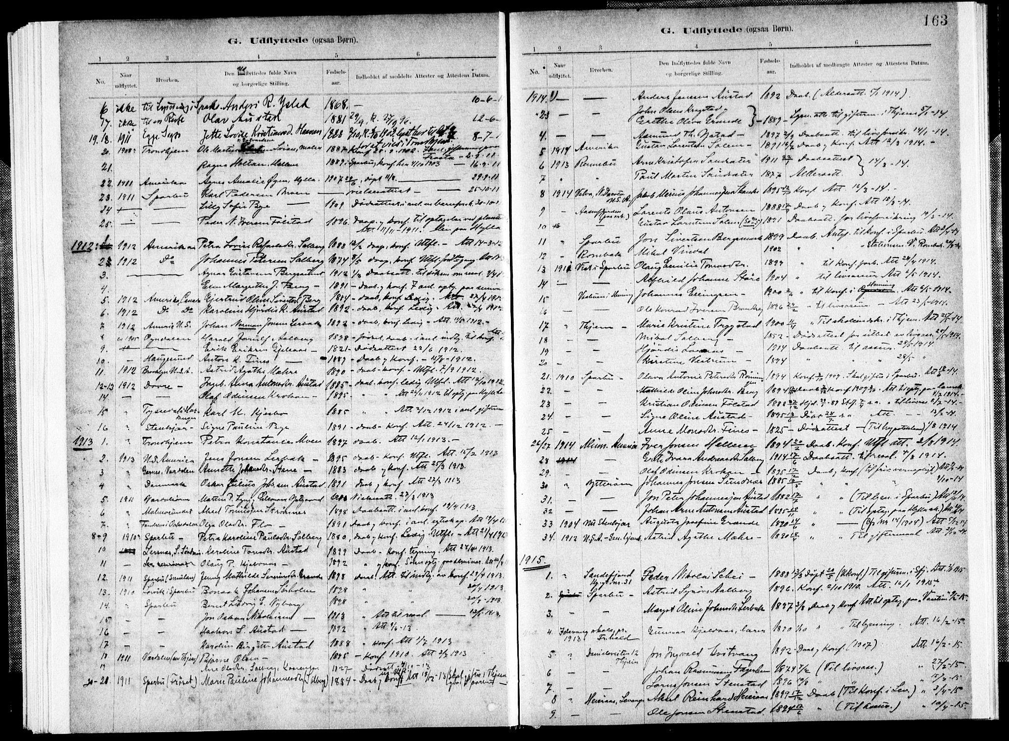 SAT, Ministerialprotokoller, klokkerbøker og fødselsregistre - Nord-Trøndelag, 731/L0309: Ministerialbok nr. 731A01, 1879-1918, s. 163