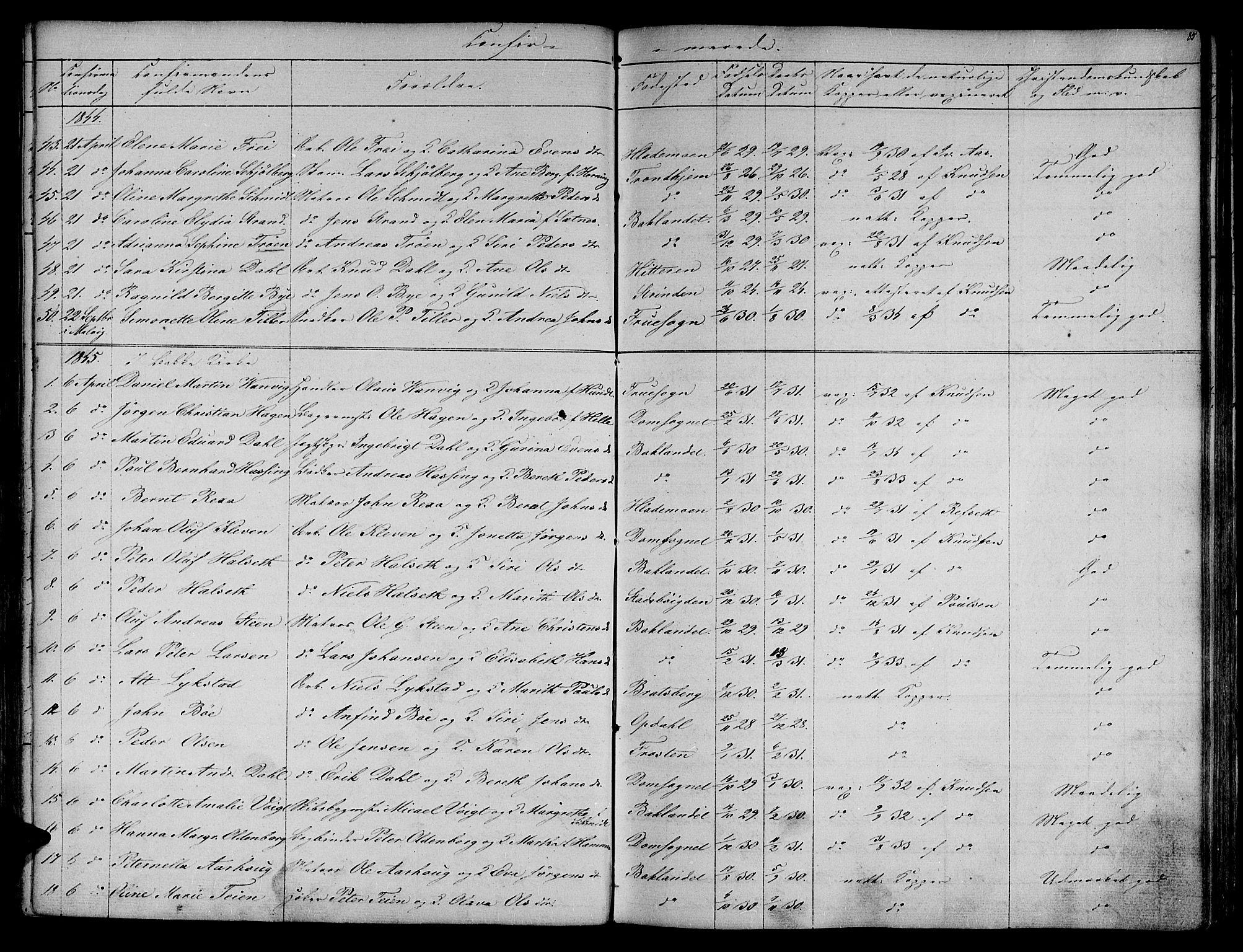 SAT, Ministerialprotokoller, klokkerbøker og fødselsregistre - Sør-Trøndelag, 604/L0182: Ministerialbok nr. 604A03, 1818-1850, s. 85