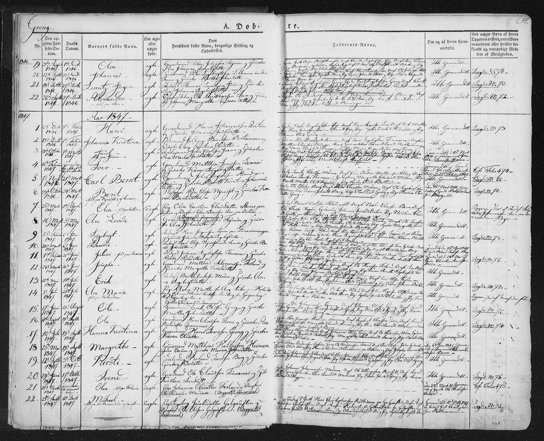 SAT, Ministerialprotokoller, klokkerbøker og fødselsregistre - Nord-Trøndelag, 758/L0513: Ministerialbok nr. 758A02 /1, 1839-1868, s. 8