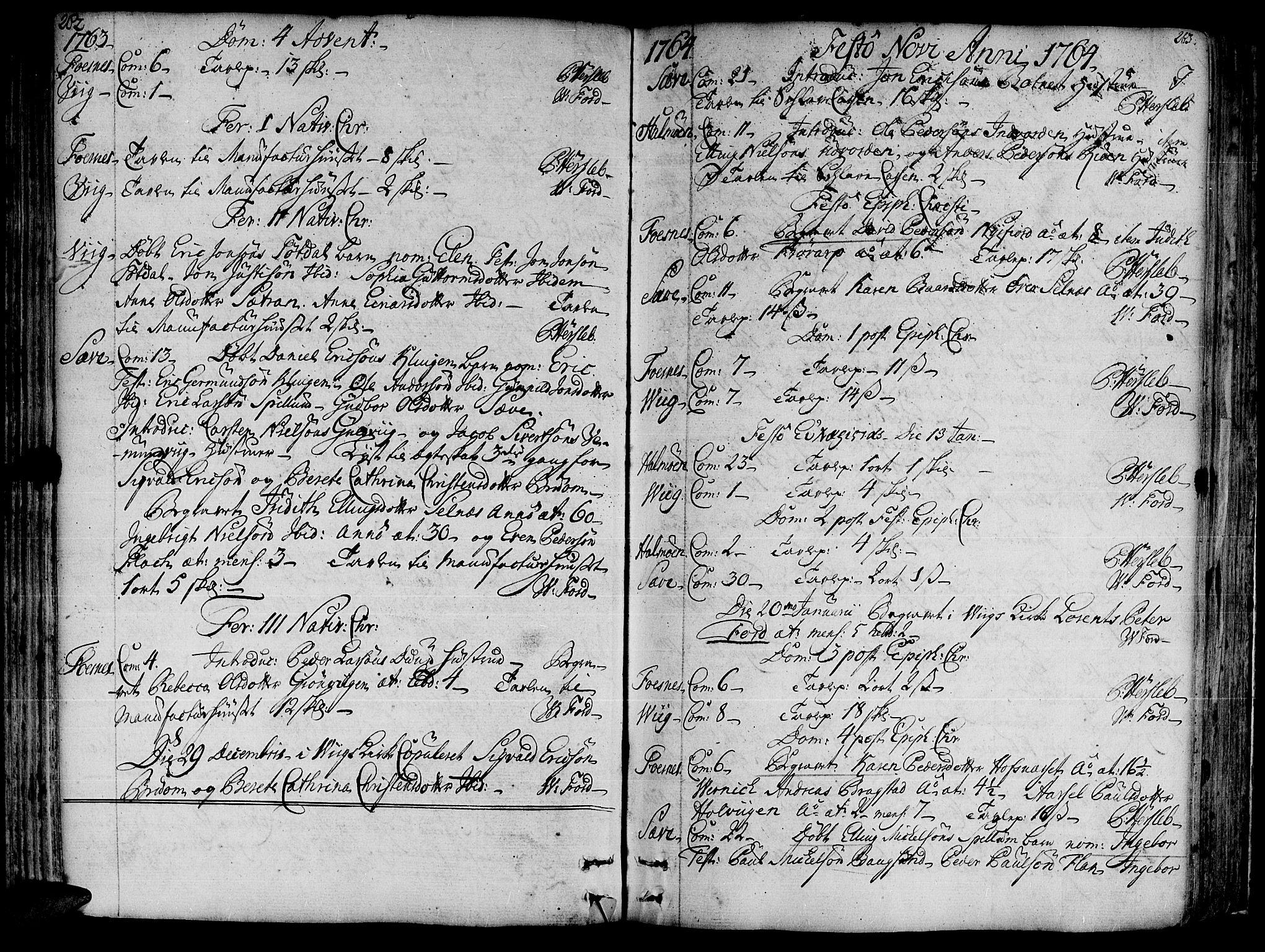 SAT, Ministerialprotokoller, klokkerbøker og fødselsregistre - Nord-Trøndelag, 773/L0607: Ministerialbok nr. 773A01, 1751-1783, s. 262-263