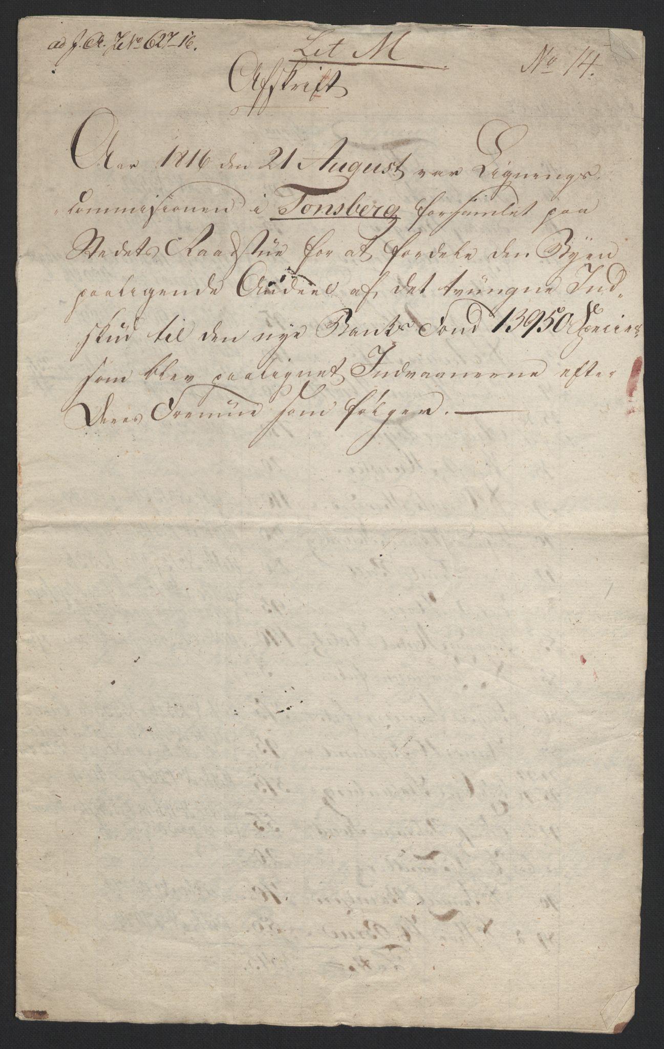 NOBA, Norges Bank/Sølvskatten 1816*, 1816, s. 9