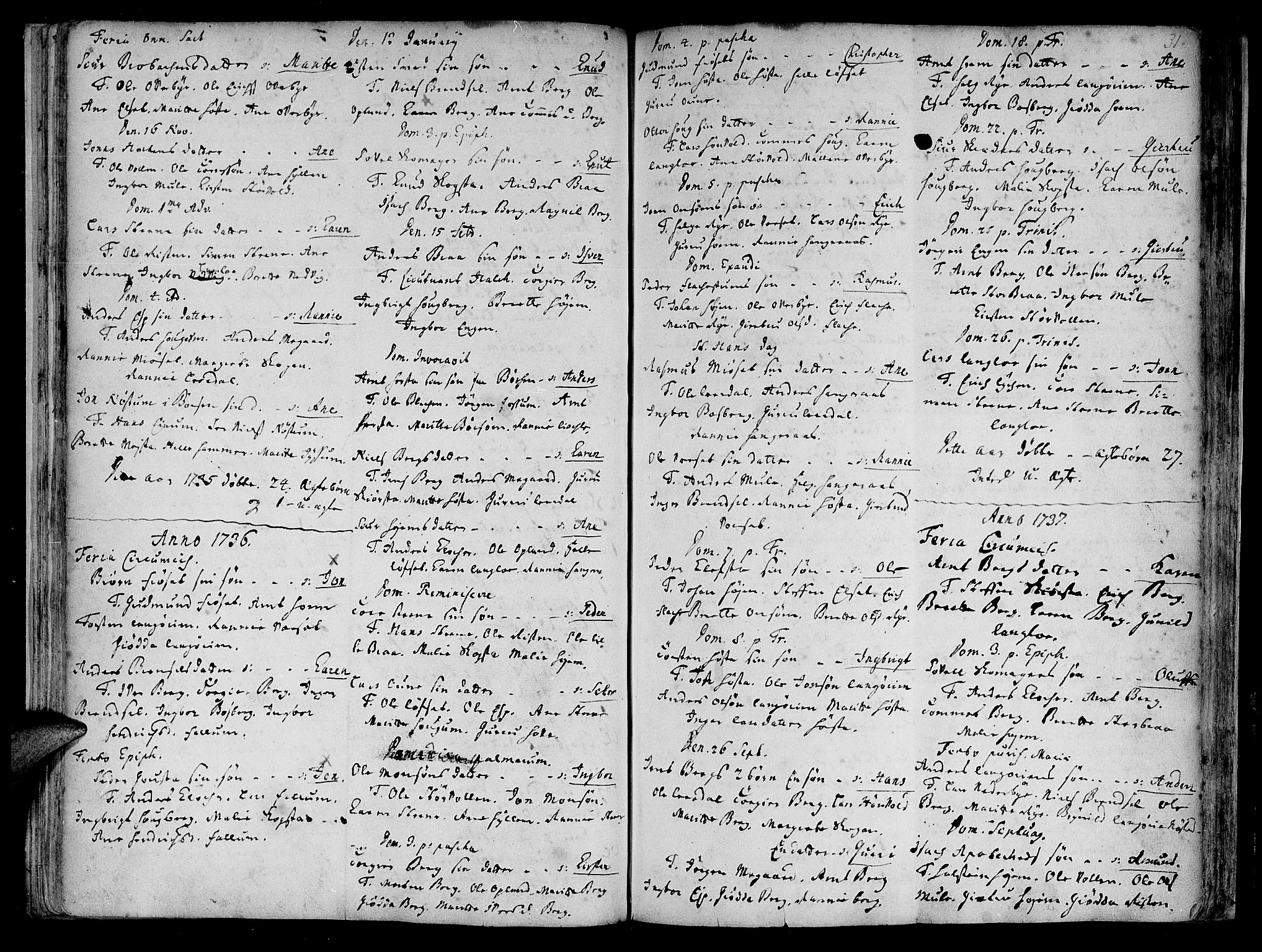 SAT, Ministerialprotokoller, klokkerbøker og fødselsregistre - Sør-Trøndelag, 612/L0368: Ministerialbok nr. 612A02, 1702-1753, s. 31