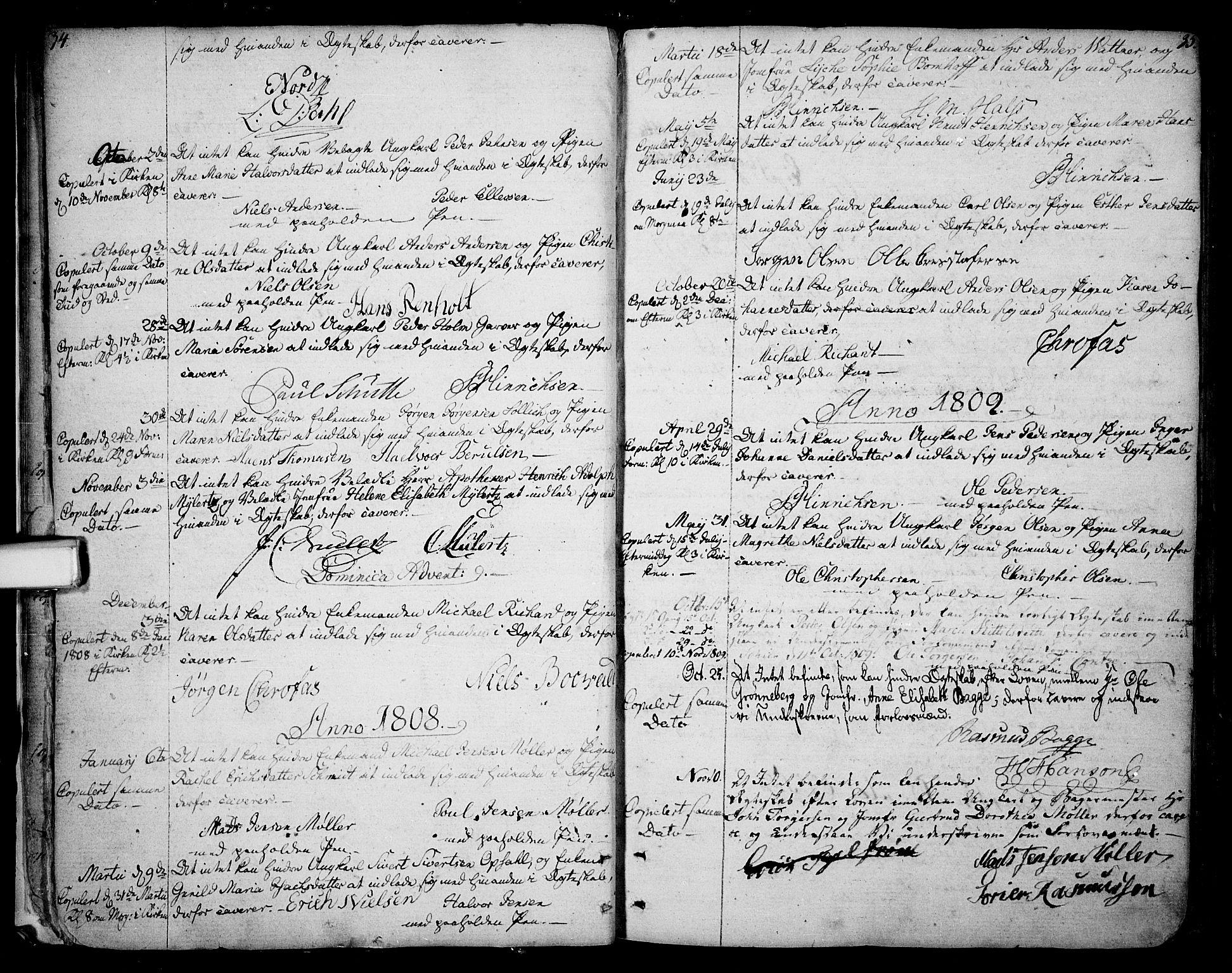 SAKO, Skien kirkebøker, F/Fa/L0004: Ministerialbok nr. 4, 1792-1814, s. 34-35