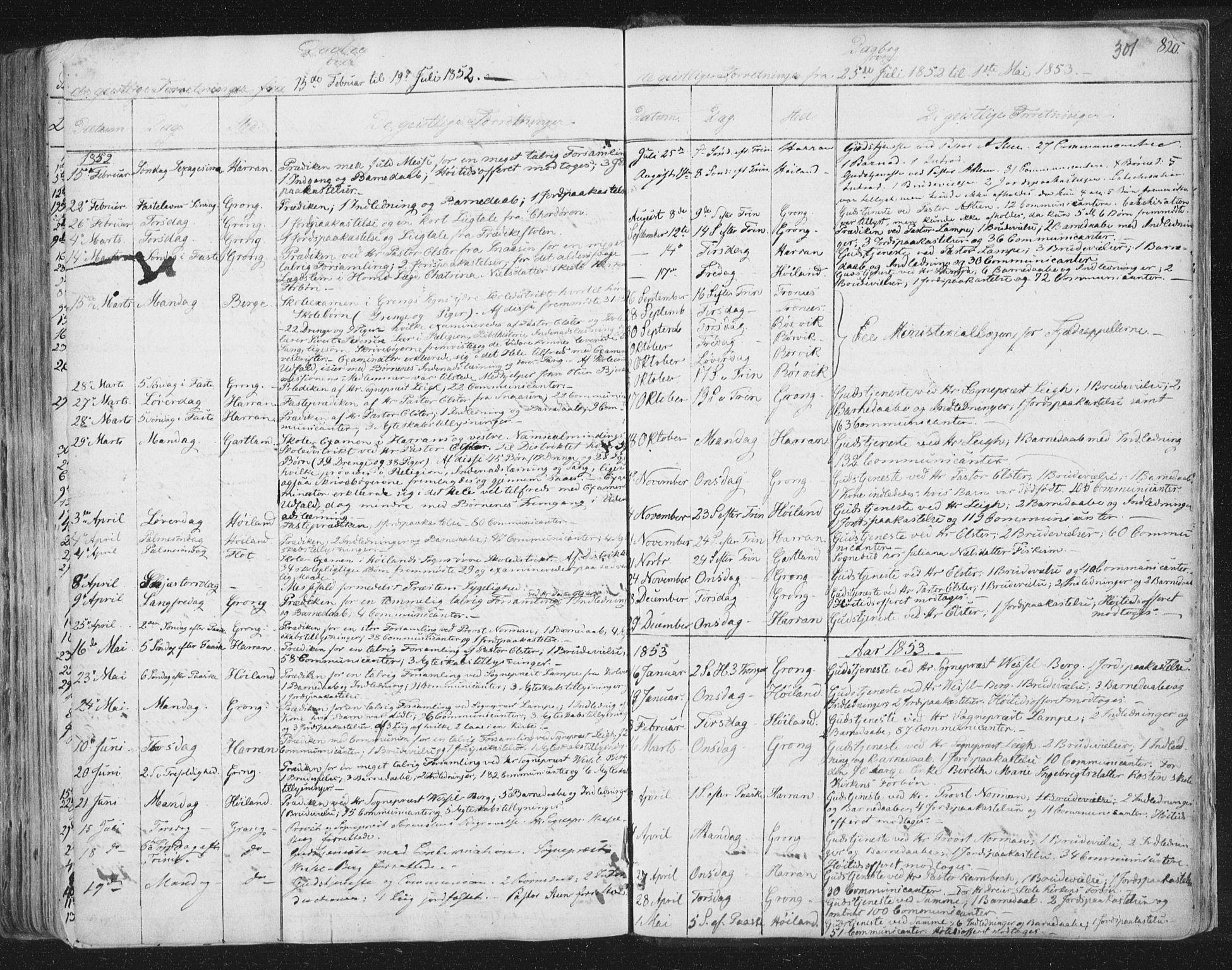 SAT, Ministerialprotokoller, klokkerbøker og fødselsregistre - Nord-Trøndelag, 758/L0513: Ministerialbok nr. 758A02 /1, 1839-1868, s. 301