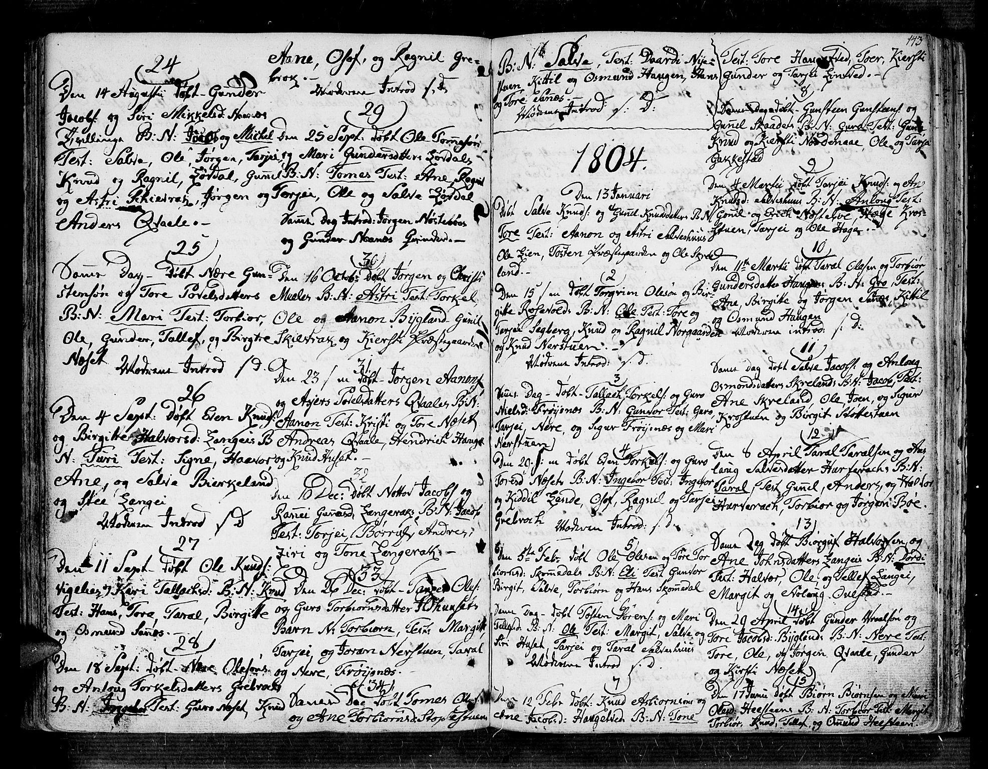 SAK, Bygland sokneprestkontor, F/Fa/Fab/L0002: Ministerialbok nr. A 2, 1766-1816, s. 137