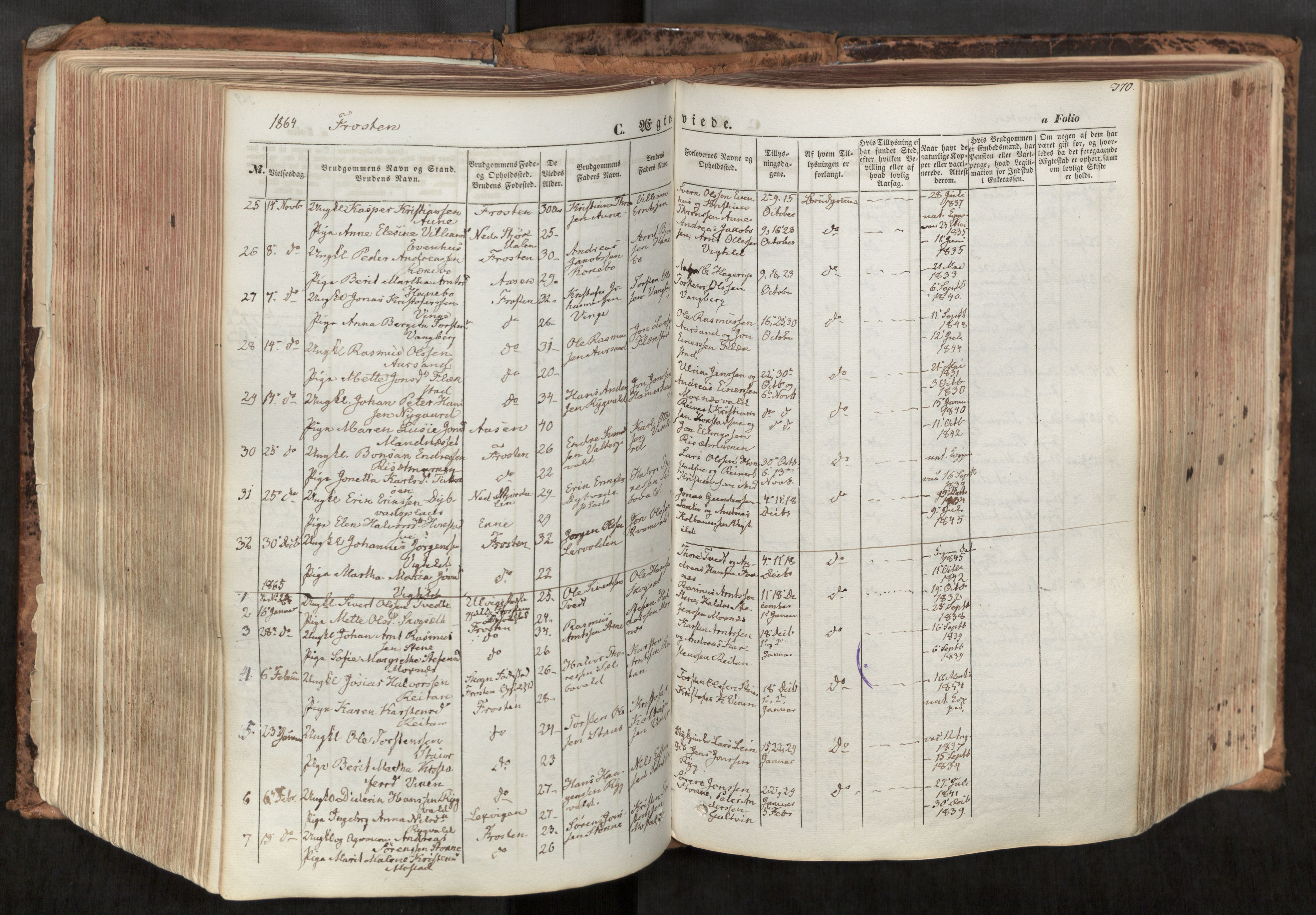 SAT, Ministerialprotokoller, klokkerbøker og fødselsregistre - Nord-Trøndelag, 713/L0116: Ministerialbok nr. 713A07, 1850-1877, s. 370