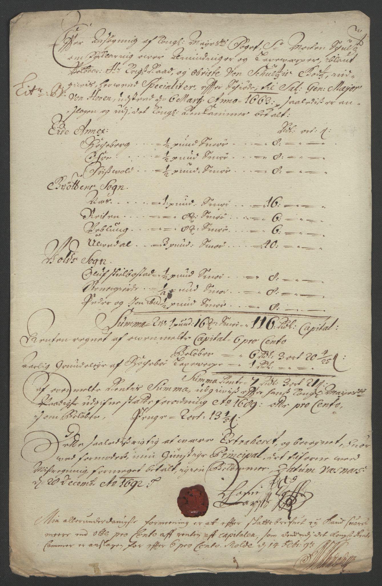 RA, Rentekammeret inntil 1814, Reviderte regnskaper, Fogderegnskap, R55/L3650: Fogderegnskap Romsdal, 1692, s. 70