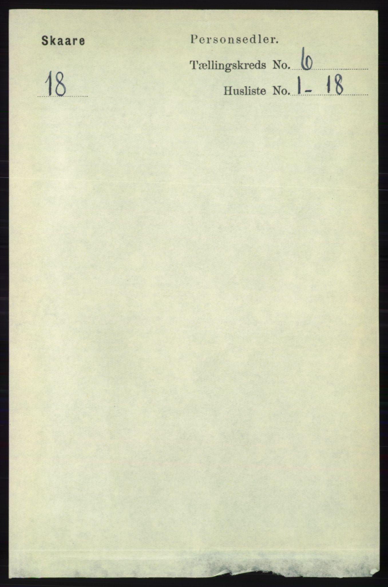 RA, Folketelling 1891 for 1153 Skåre herred, 1891, s. 2390