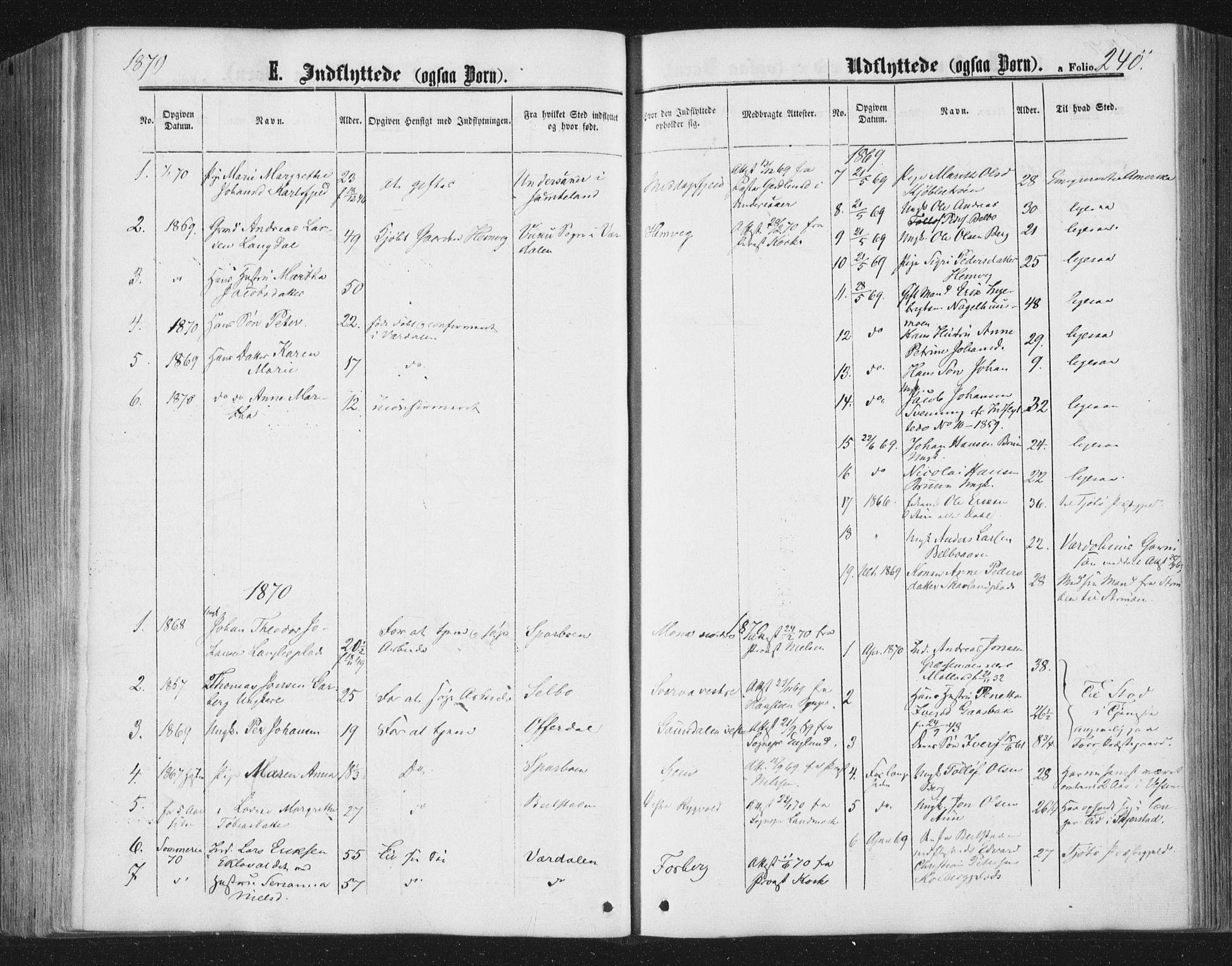 SAT, Ministerialprotokoller, klokkerbøker og fødselsregistre - Nord-Trøndelag, 749/L0472: Ministerialbok nr. 749A06, 1857-1873, s. 240