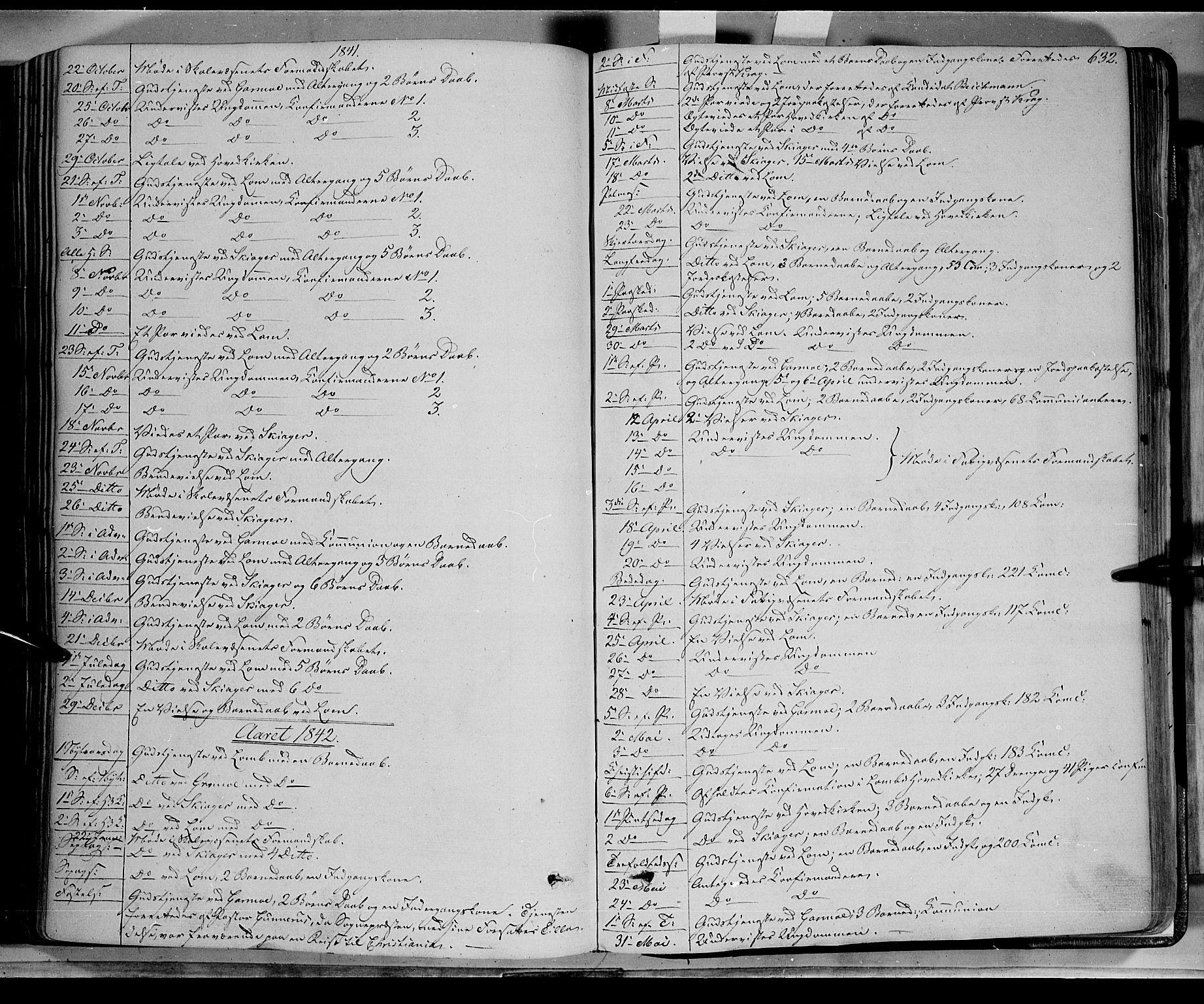 SAH, Lom prestekontor, K/L0006: Ministerialbok nr. 6B, 1837-1863, s. 632
