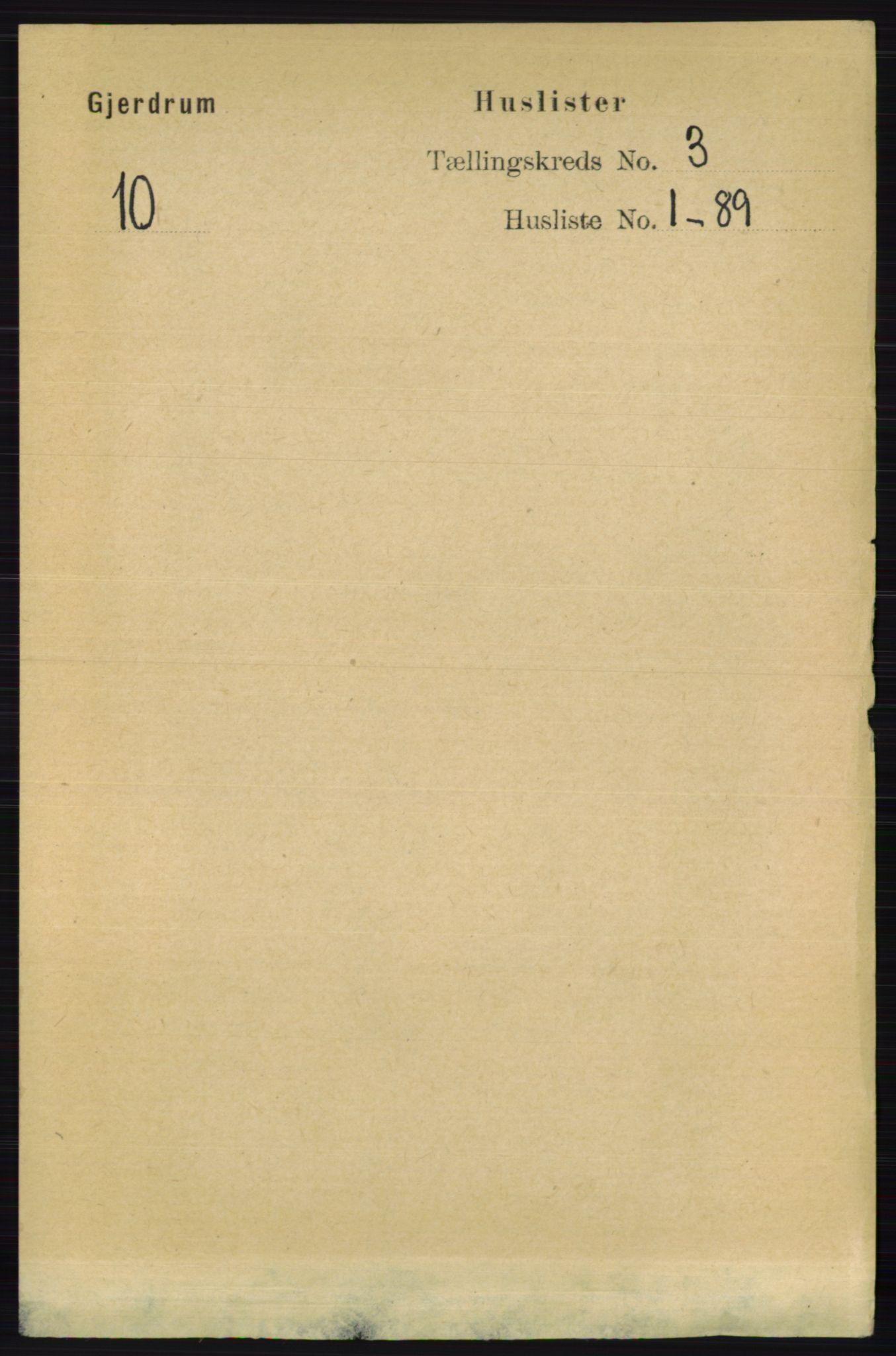 RA, Folketelling 1891 for 0234 Gjerdrum herred, 1891, s. 1159