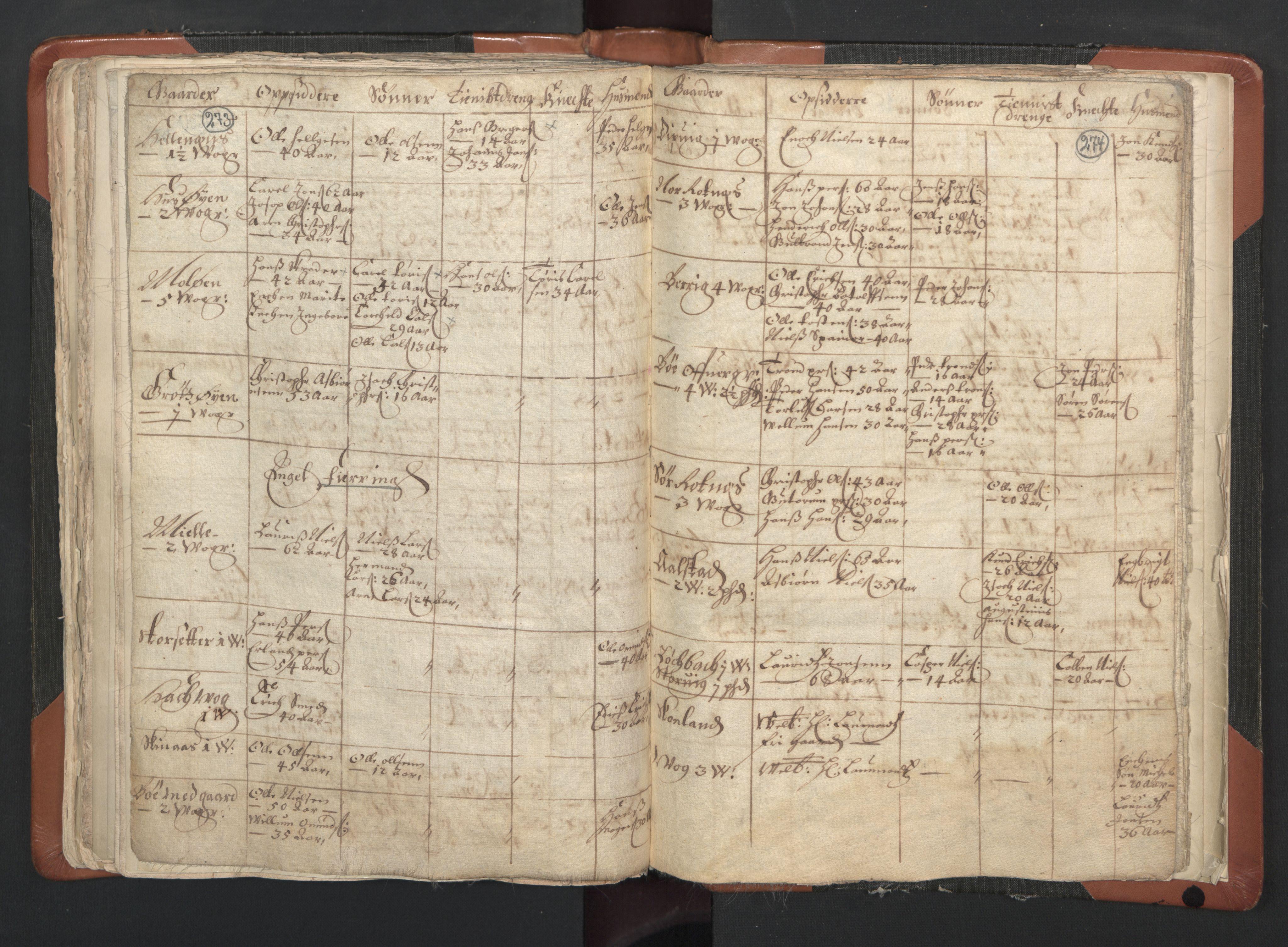 RA, Sogneprestenes manntall 1664-1666, nr. 35: Helgeland prosti og Salten prosti, 1664-1666, s. 273-274
