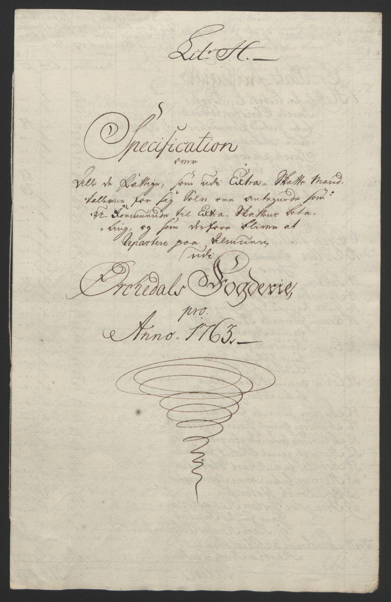 RA, Rentekammeret inntil 1814, Reviderte regnskaper, Fogderegnskap, R60/L4094: Ekstraskatten Orkdal og Gauldal, 1762-1765, s. 116