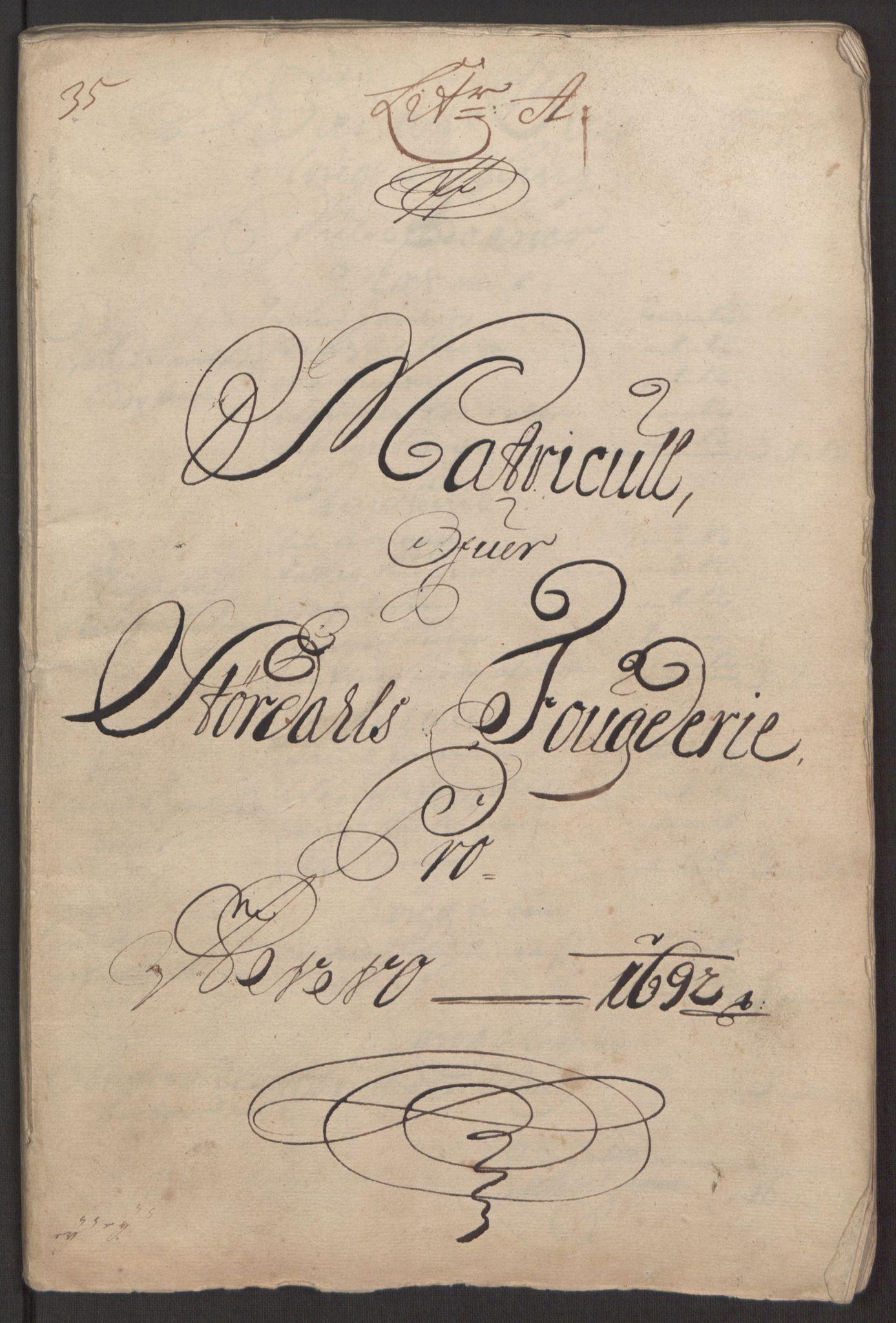 RA, Rentekammeret inntil 1814, Reviderte regnskaper, Fogderegnskap, R62/L4185: Fogderegnskap Stjørdal og Verdal, 1692, s. 21